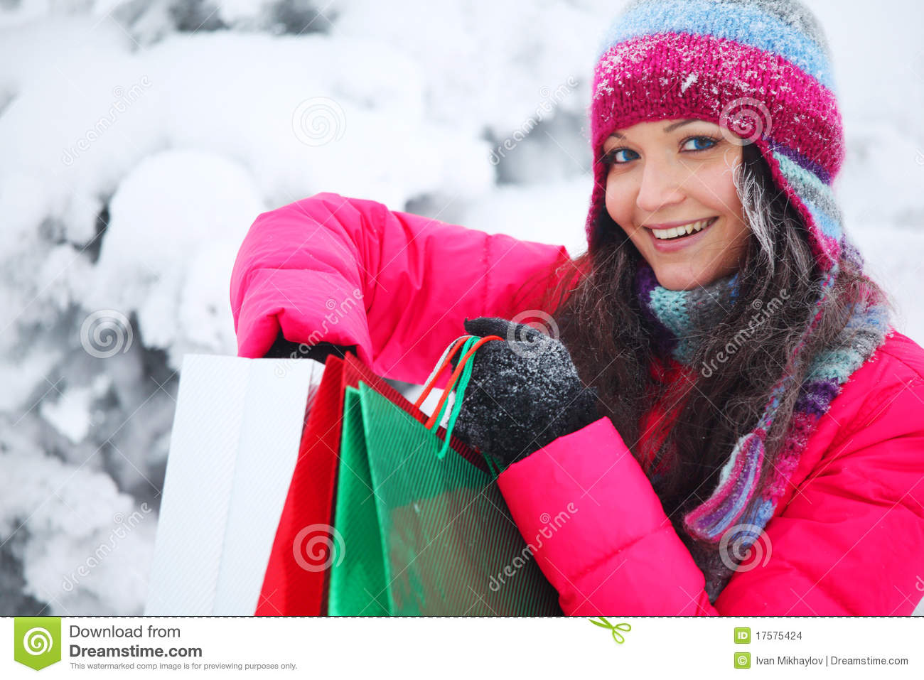 Winter time online shopping