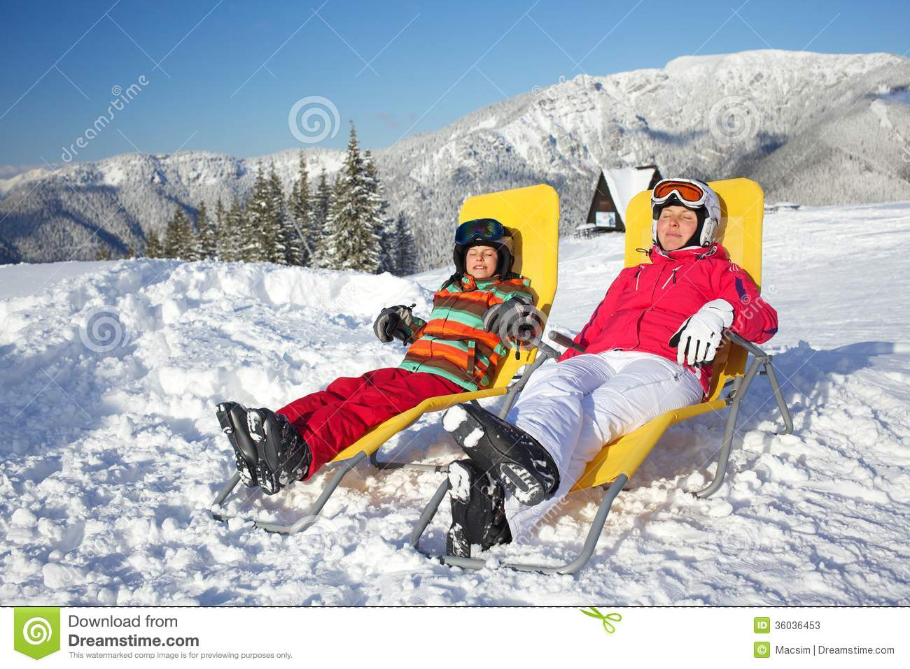 Winter, ski, sun and fun. stock image. Image of equipment ...