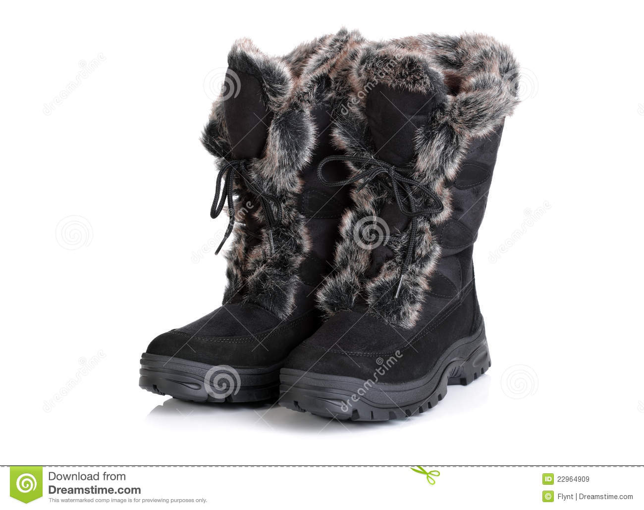 Winter Snow Boots Royalty Free Stock Images - Image: 22964909