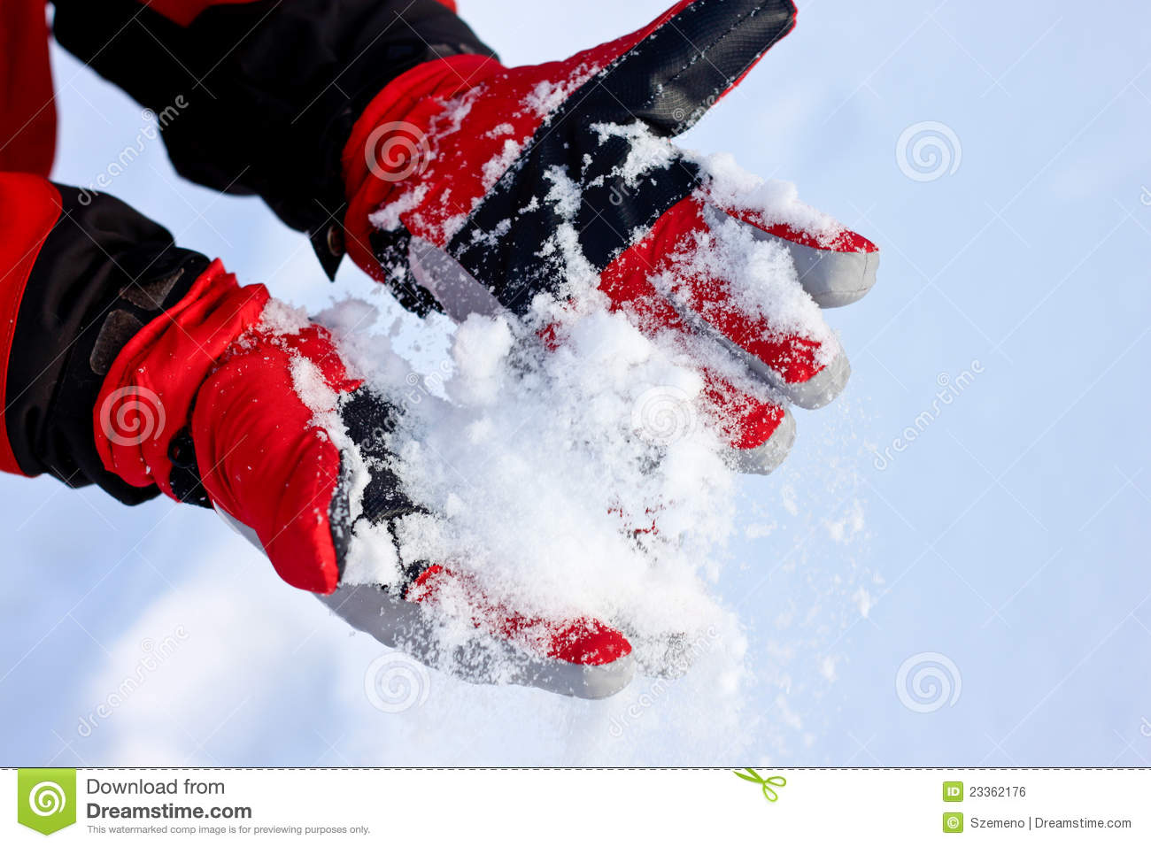 Gloves On Snow Royalty-Free Stock Photo | CartoonDealer