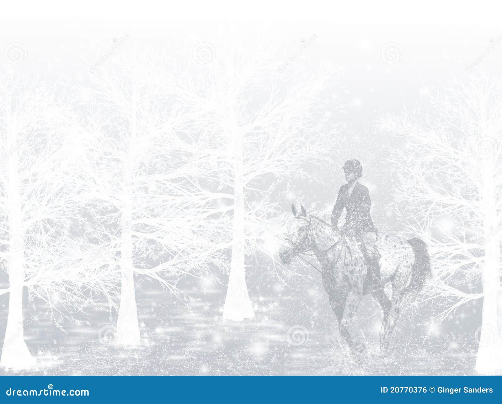 Winter Snow Horse Rider