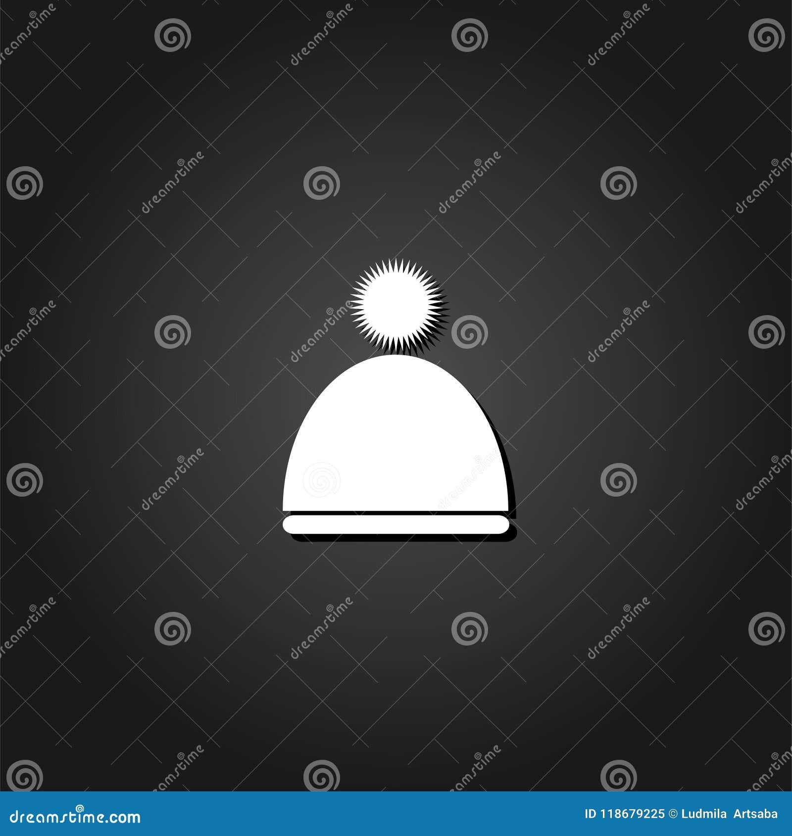 2b4ea4b4b69 Winter Snowboard Cap Icon Flat. Stock Vector - Illustration of sport ...