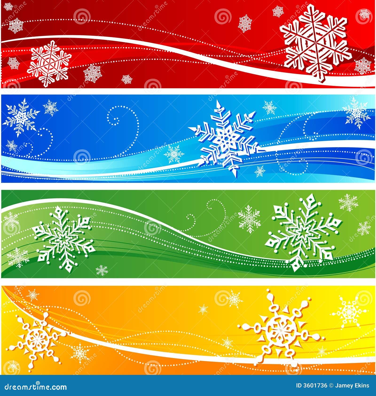 winter snowflake banner royalty free stock image