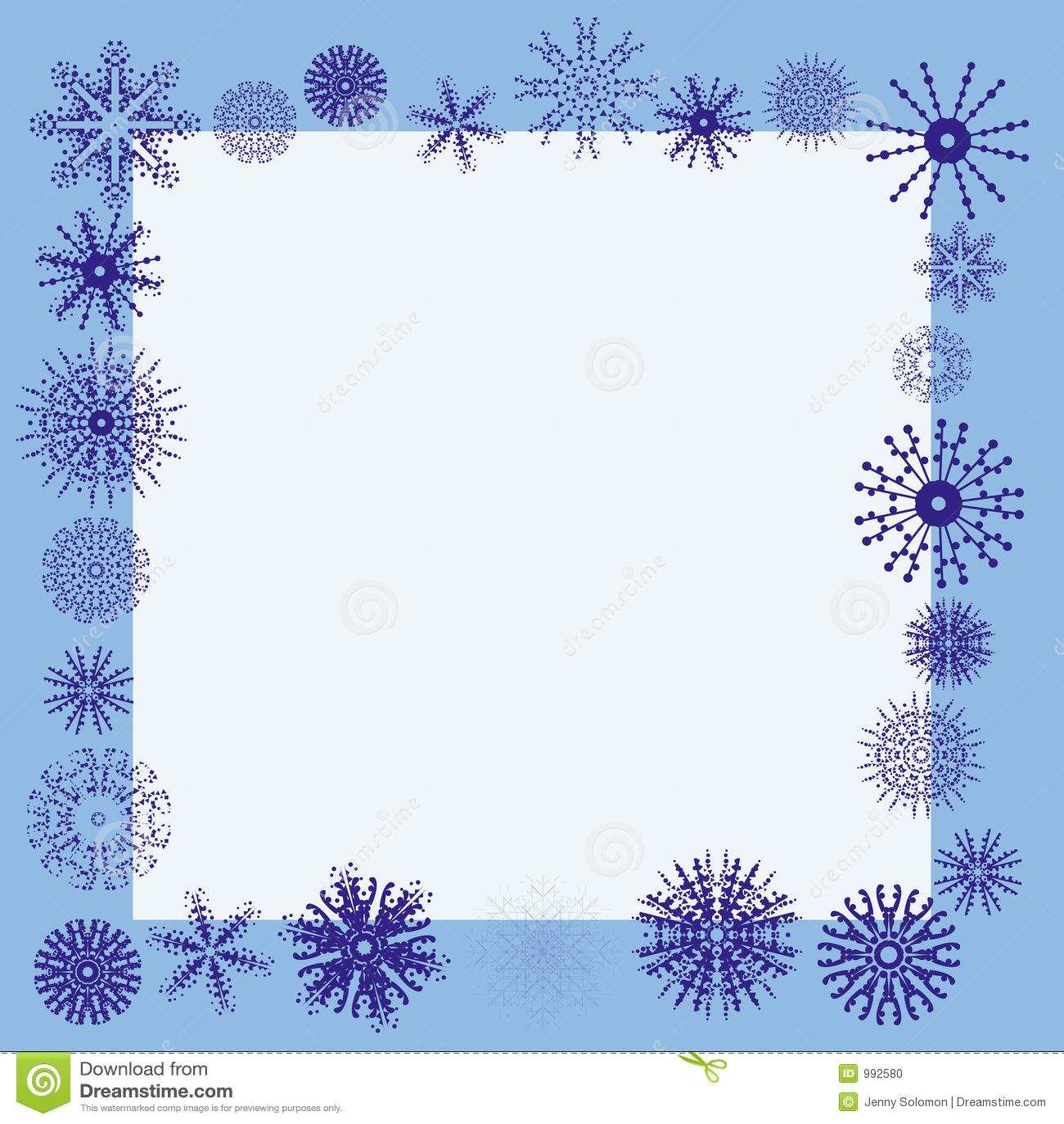 Winter snowflake border stock vector. Illustration of ...