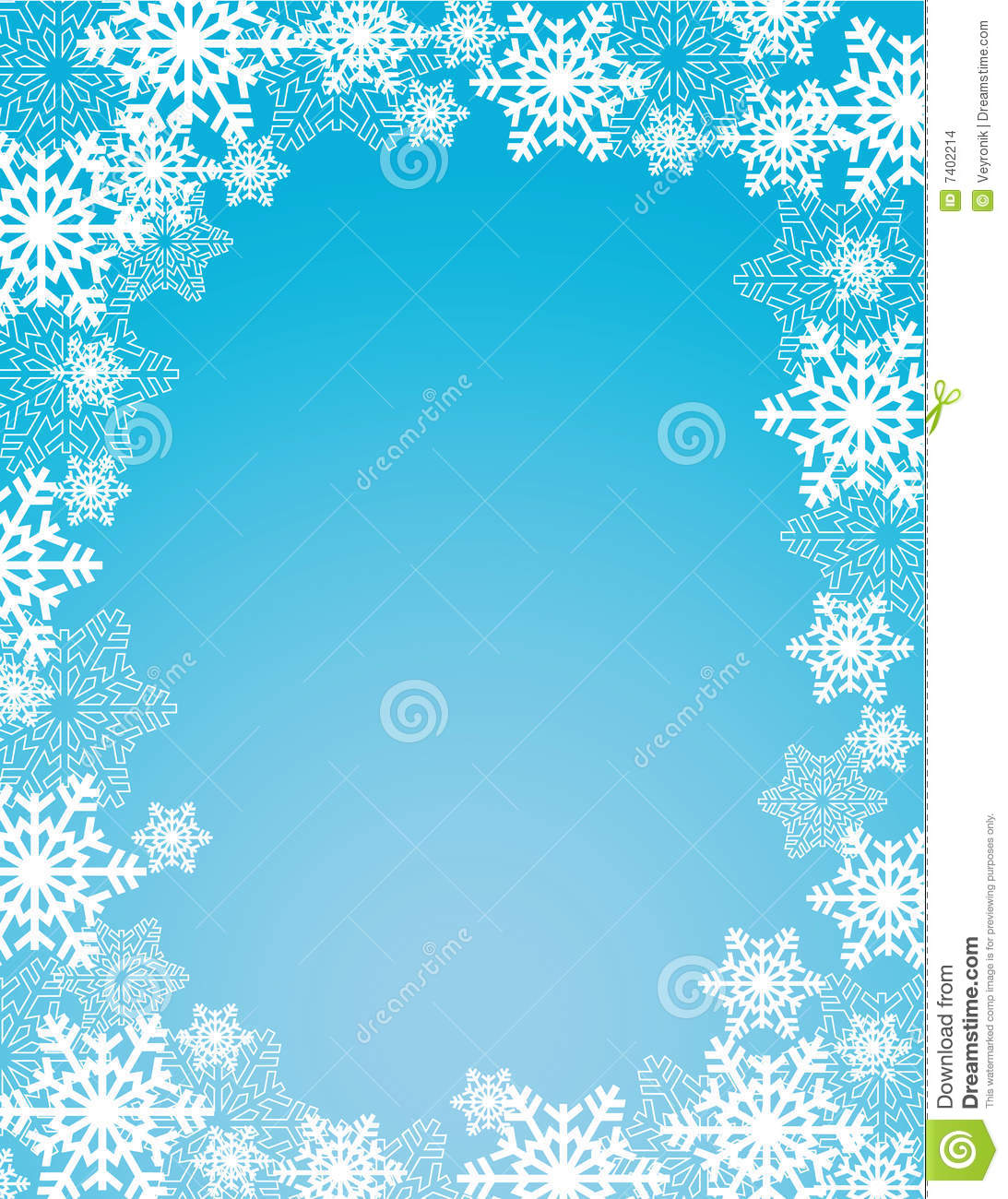 winter snowflakes frame stock vector  illustration of white