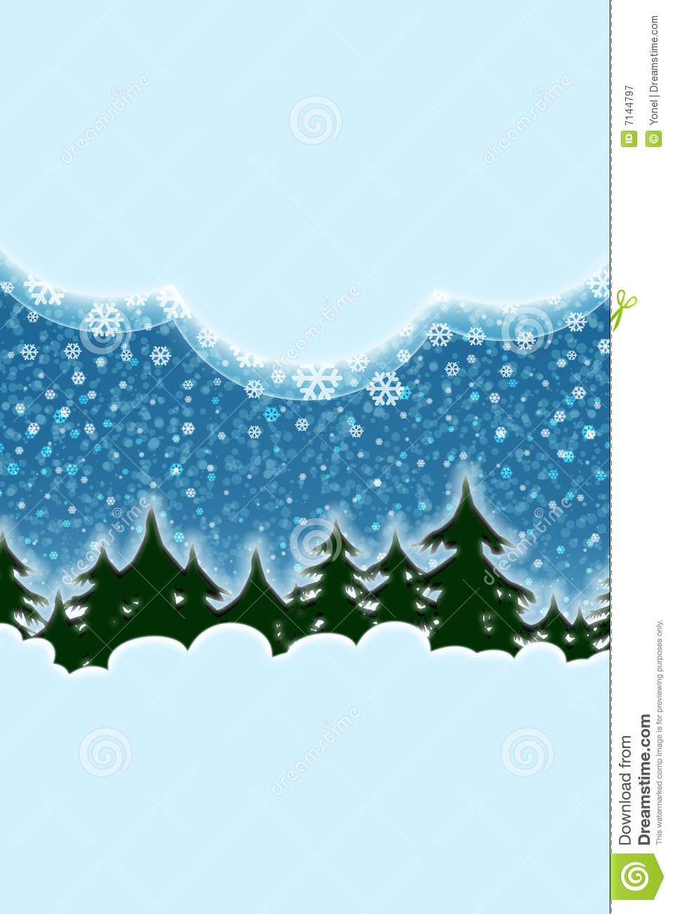 Winter Snowing Christmas Scenery Royalty Free Stock