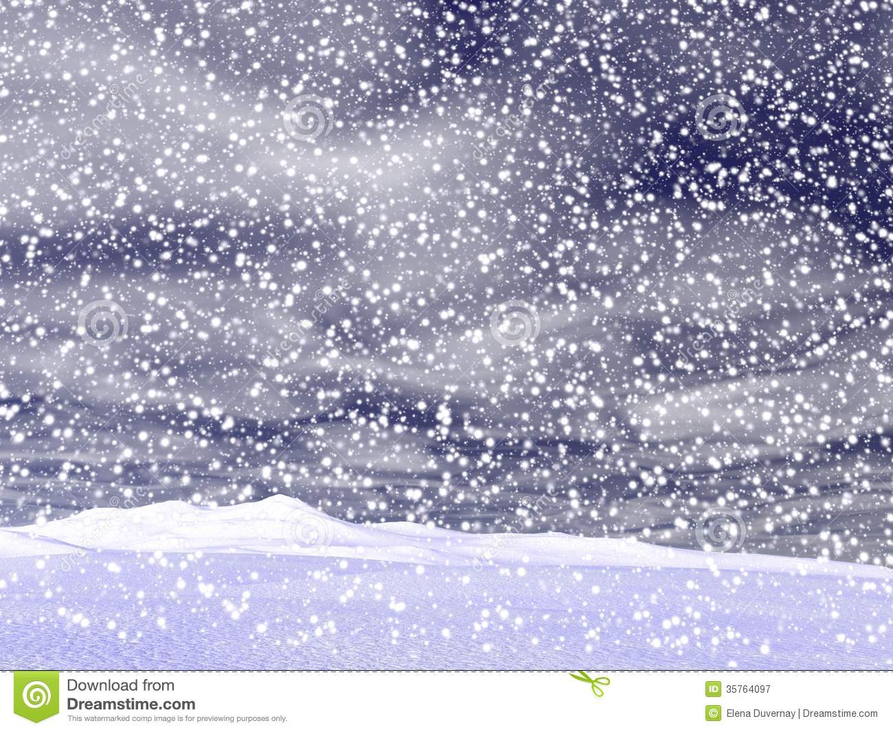 Winter Snowing Landscape - 3D Render Royalty Free Stock Photography ...