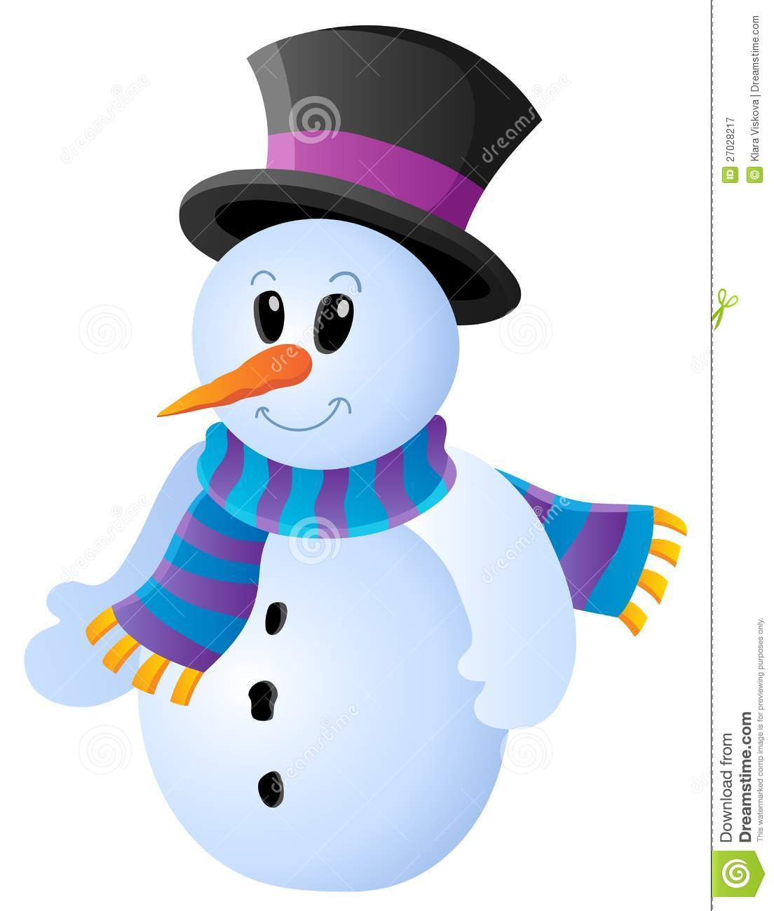 Winter snowman theme image 1 royalty free stock photography image