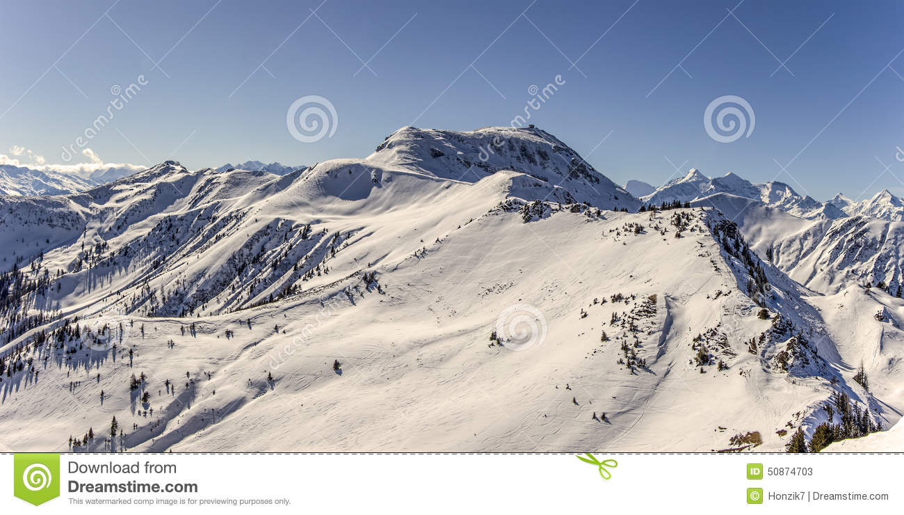 winter panorama of mountains royalty free stock photography