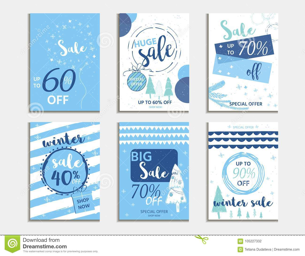 Winter Social Media Sale Banners And Ads Web Template Collectio