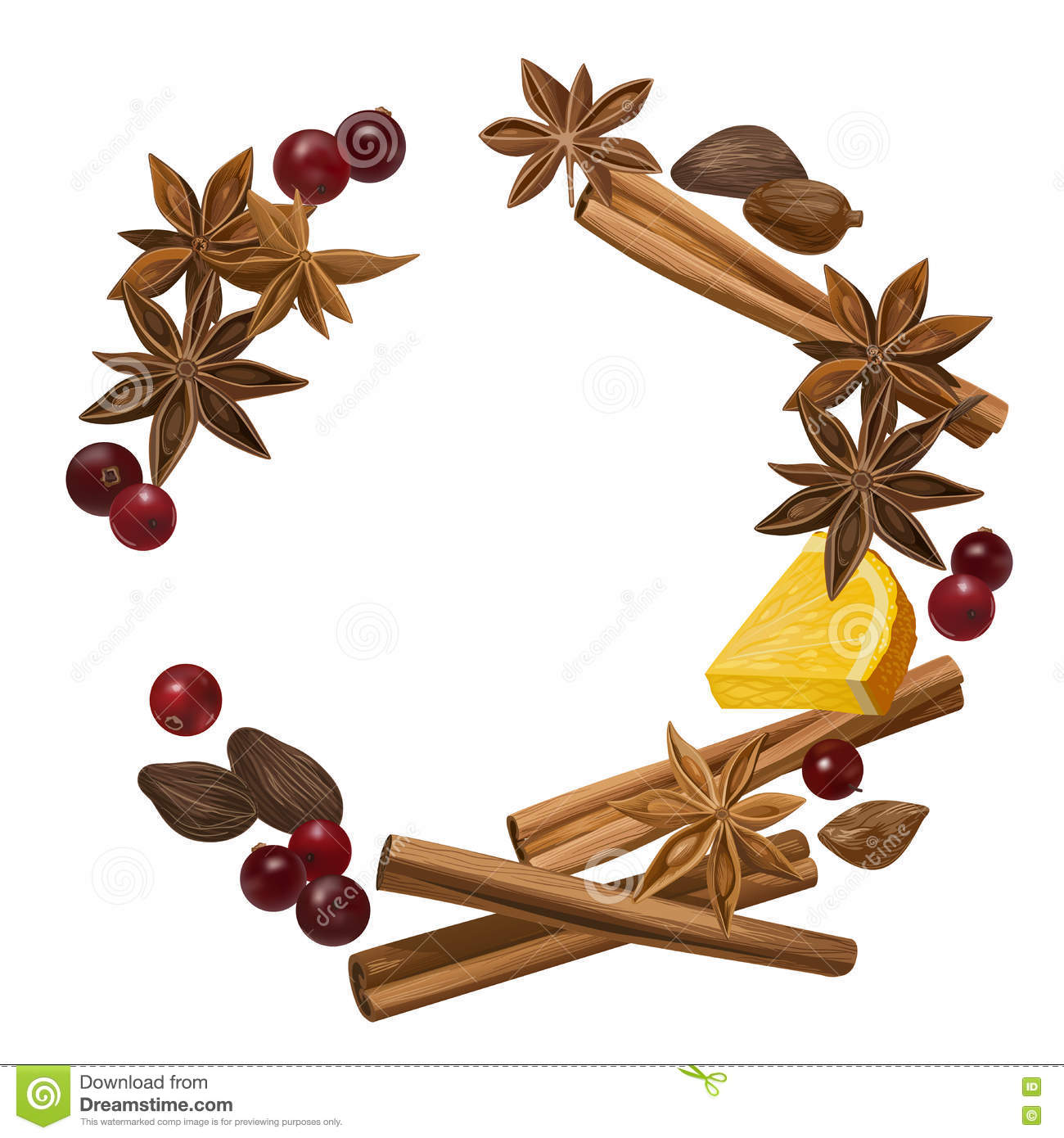 Winter Spice. Stock Vector - Image: 82274225