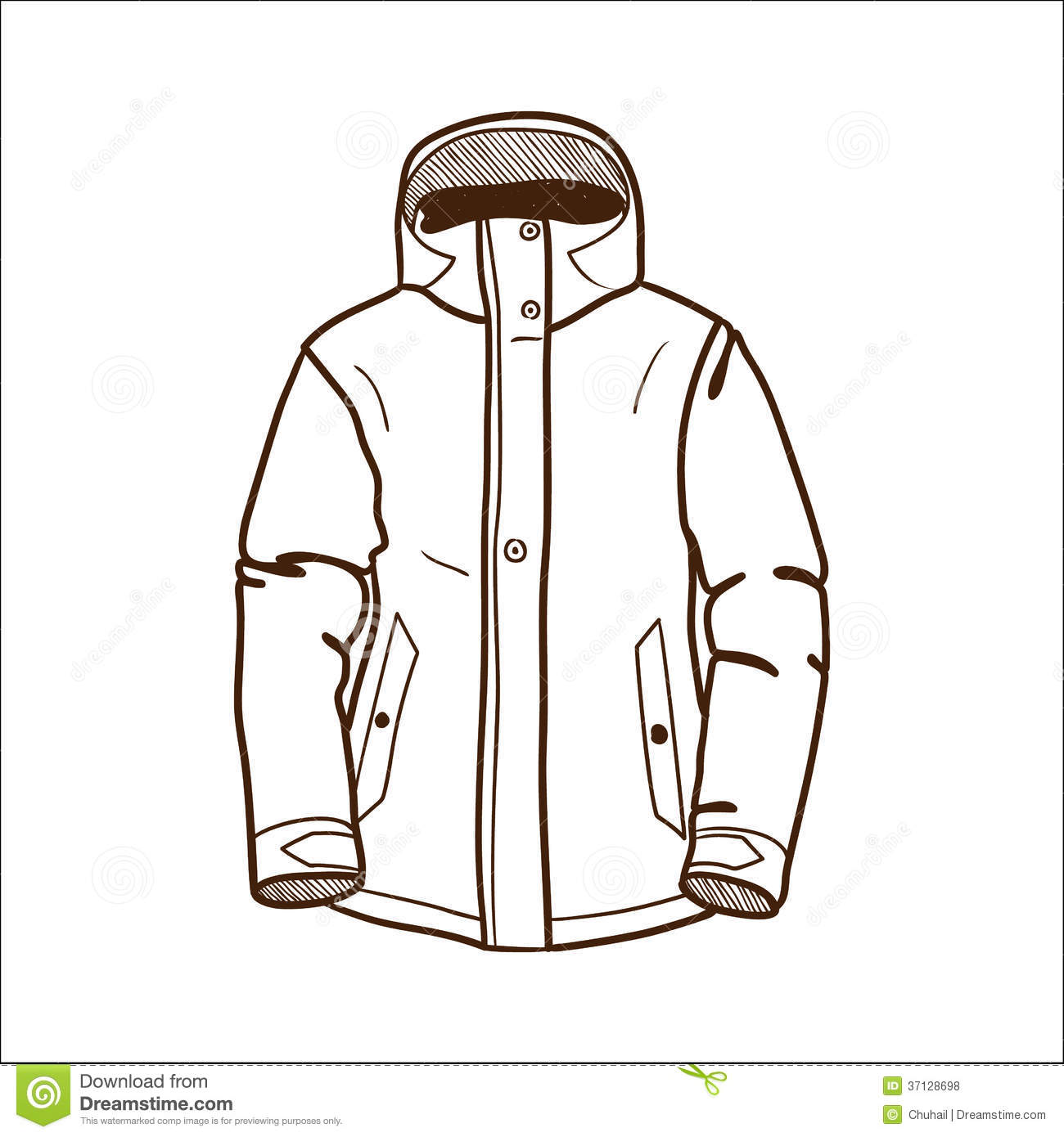 jacket clipart black and white - photo #23