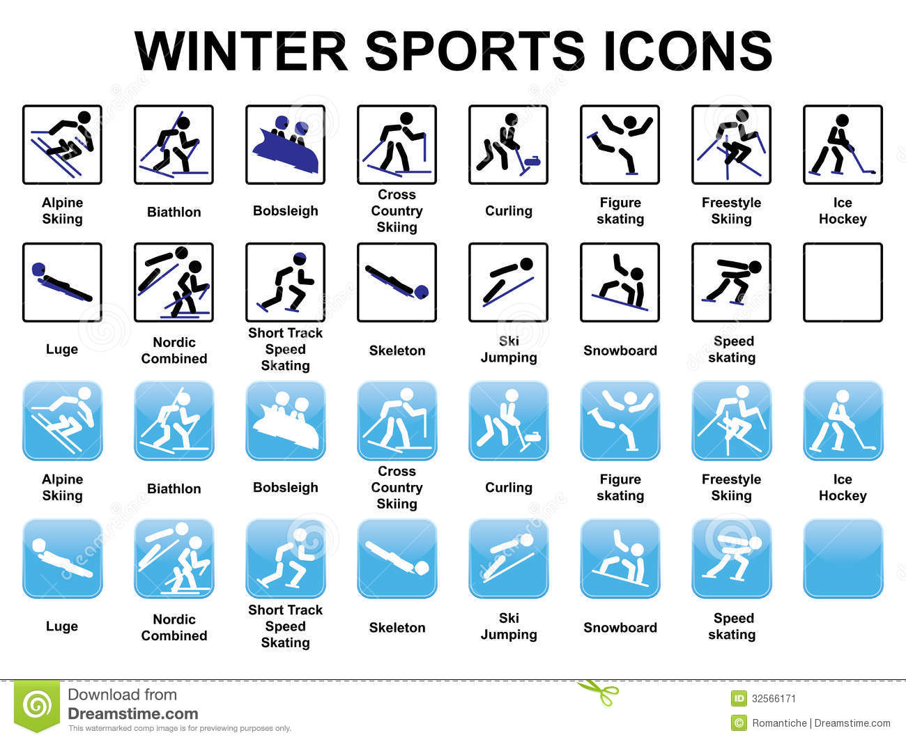 winter sports icons stock vector illustration of black free clipart olympic torch free winter olympic clipart
