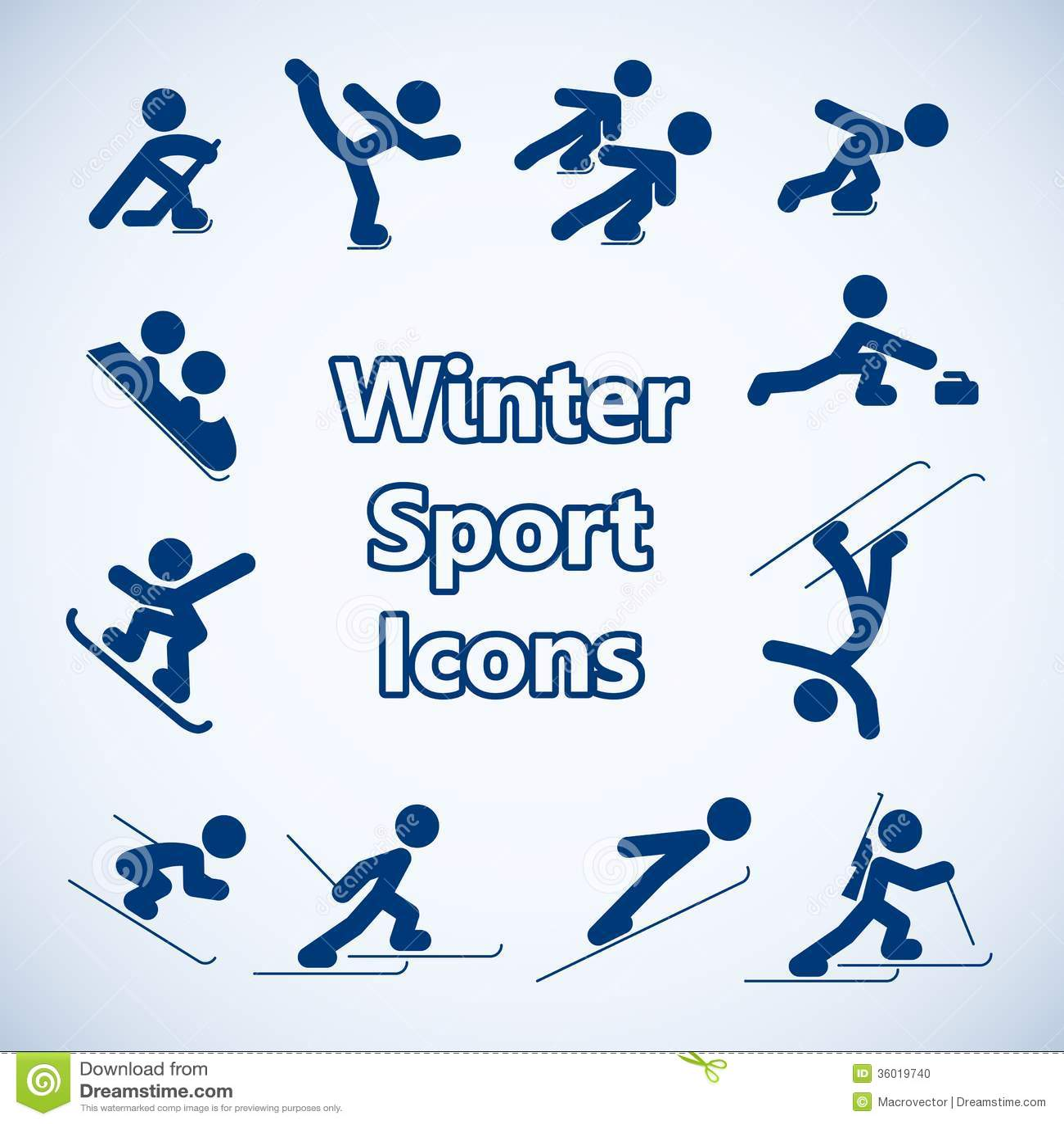 Winter Sports Icons Set Stock Photo - Image: 36019740