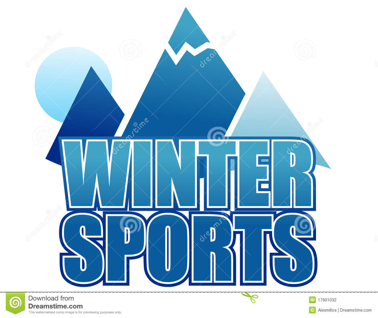 sports winter sign isolated dreamstime