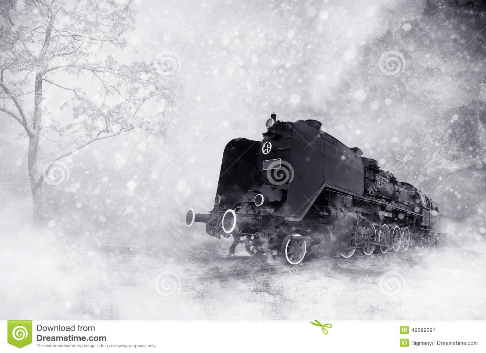 Download Winter storm stock illustration. Illustration of locomotive - 49389397