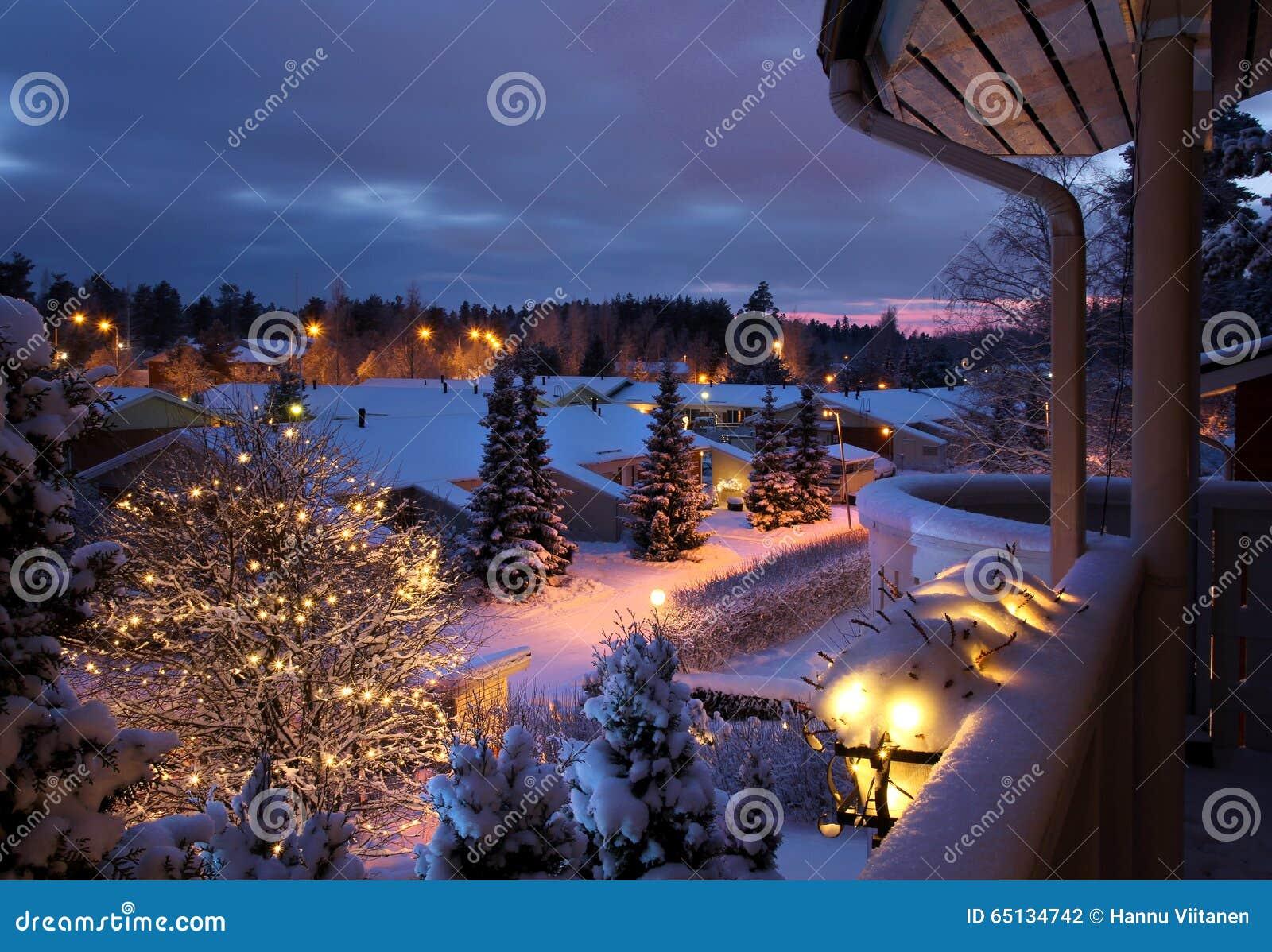 winter street snowy christmas scenery stock photo image of night
