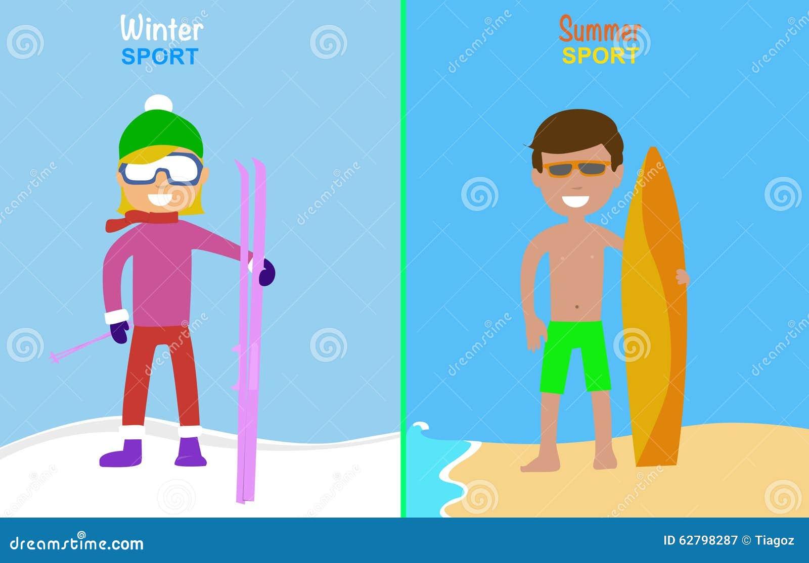 Summer Sports Cartoon