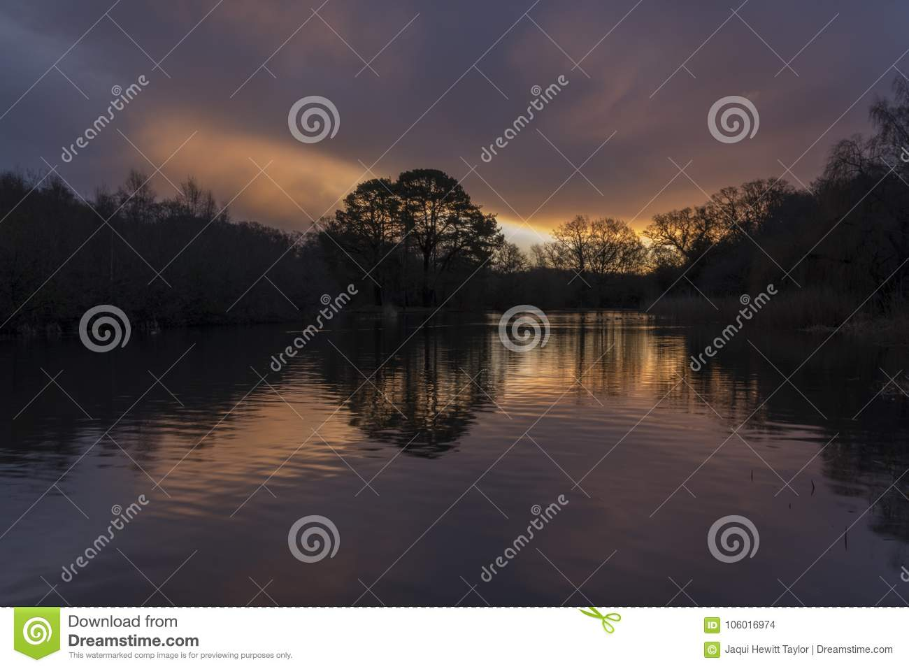 Sunrise at the Ornamental Pond, Southampton Common