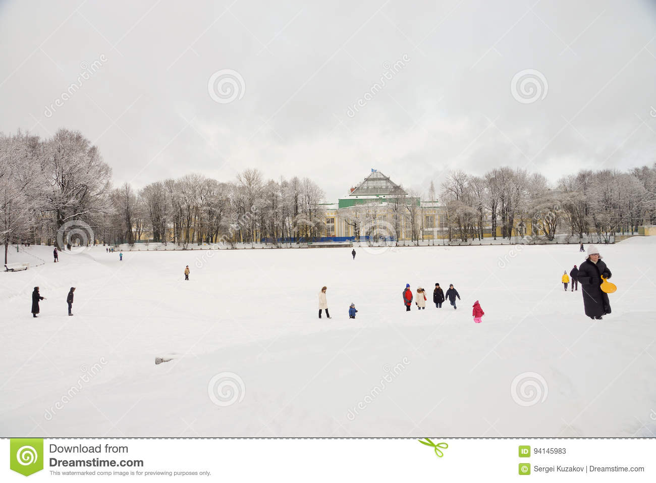winter tavrichesky garden editorial stock photo image 94145983