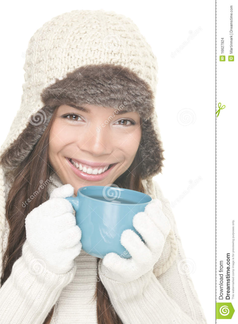 410c0b307311 Winter Tea   Coffee Drink Drinking Girl Stock Photo - Image of drink ...