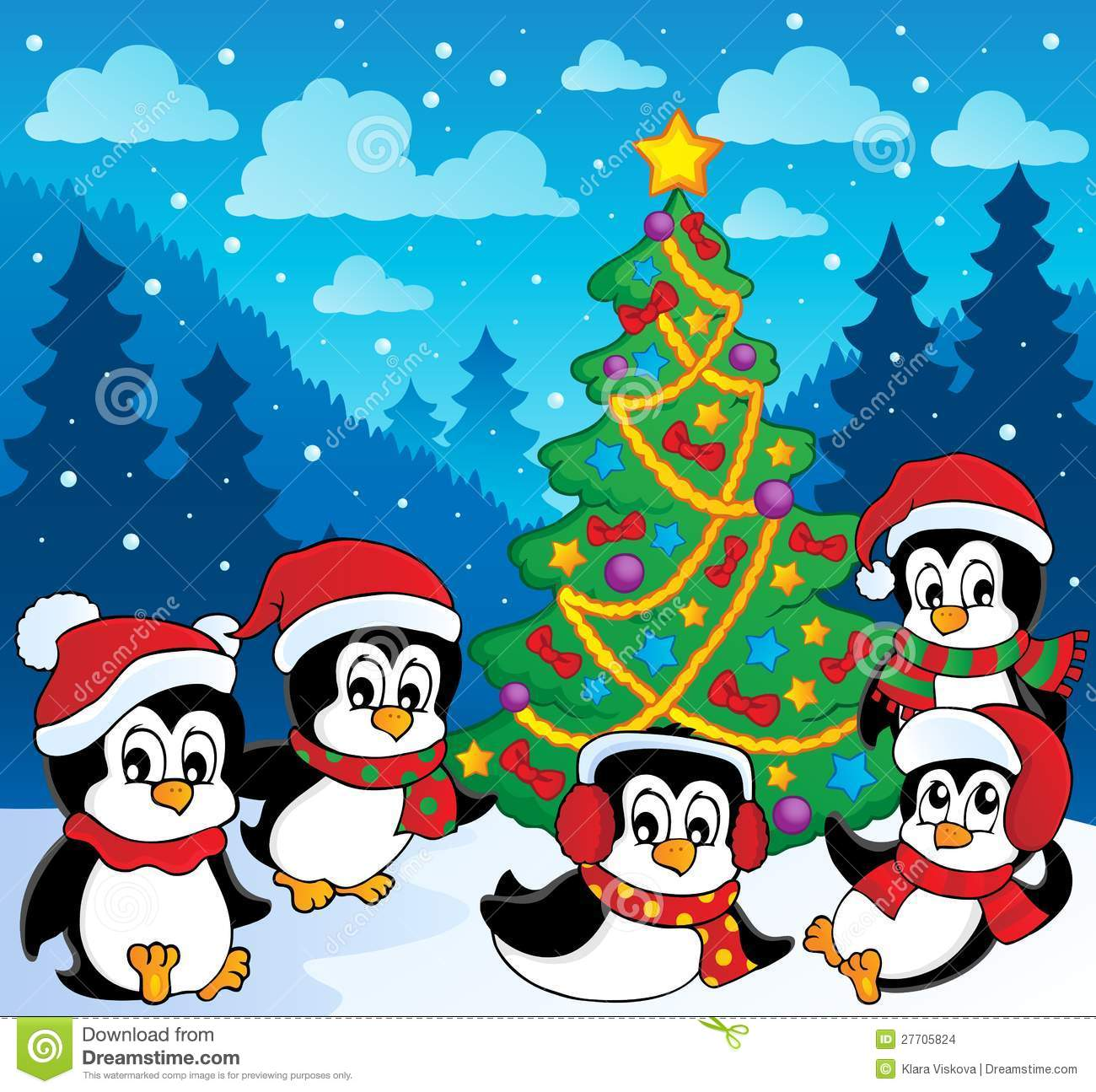 winter theme with penguins stock images image 27705824 penguins ice skating clipart Holiday Ice Skating Penguin Clip Art