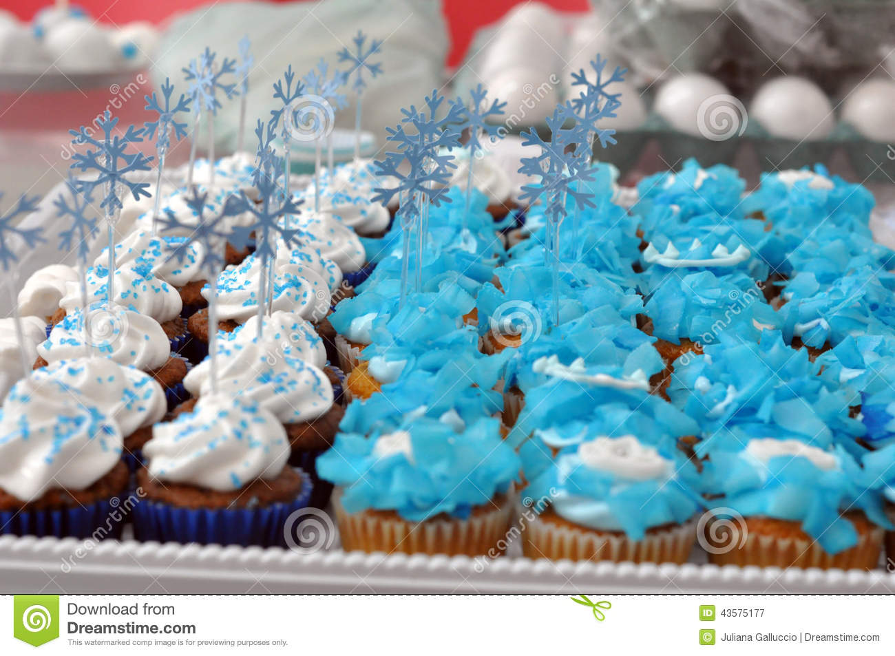 Winter Themed Party Cupcakes Stock Photo Image 43575177