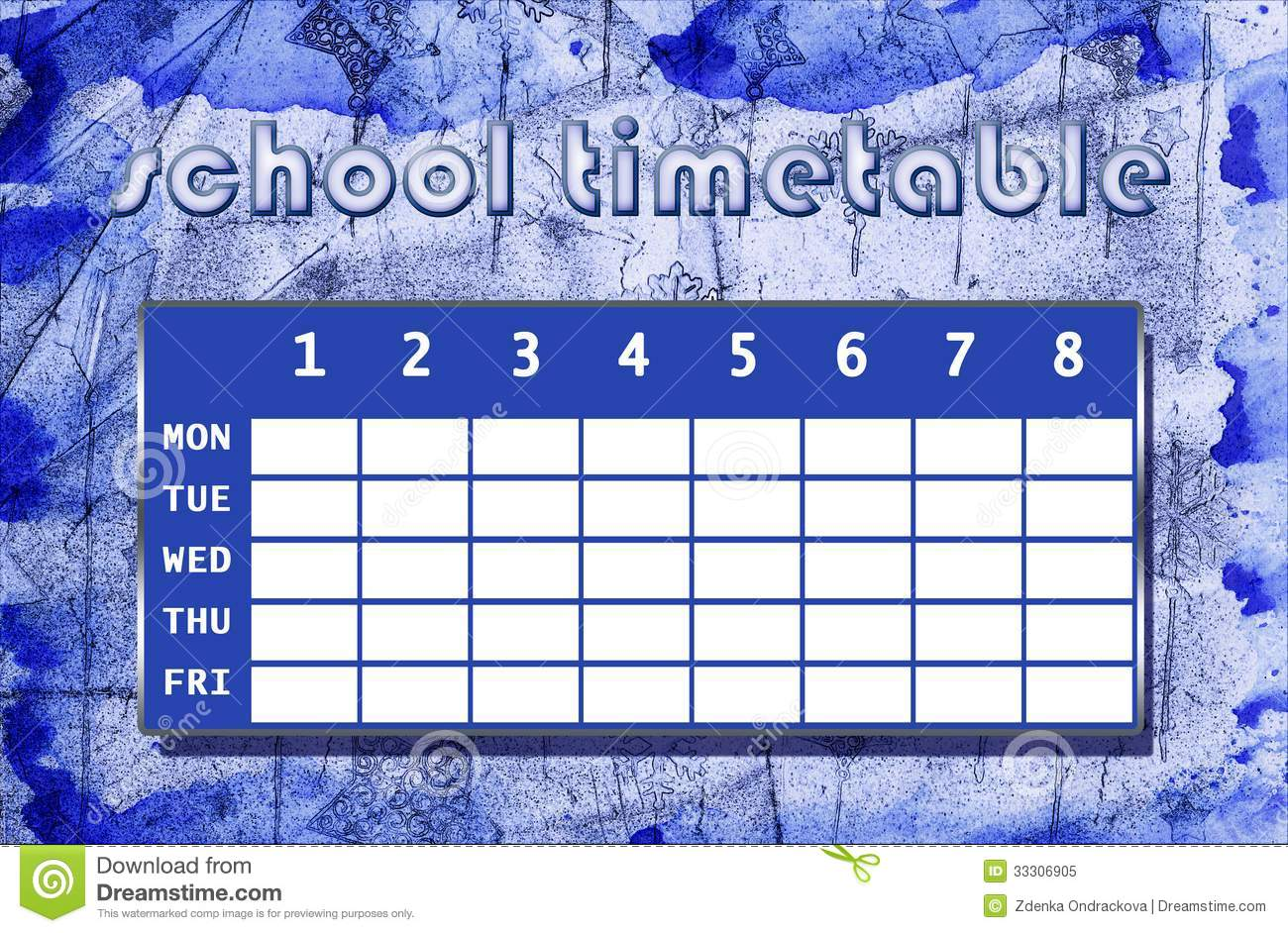 cool timetable template