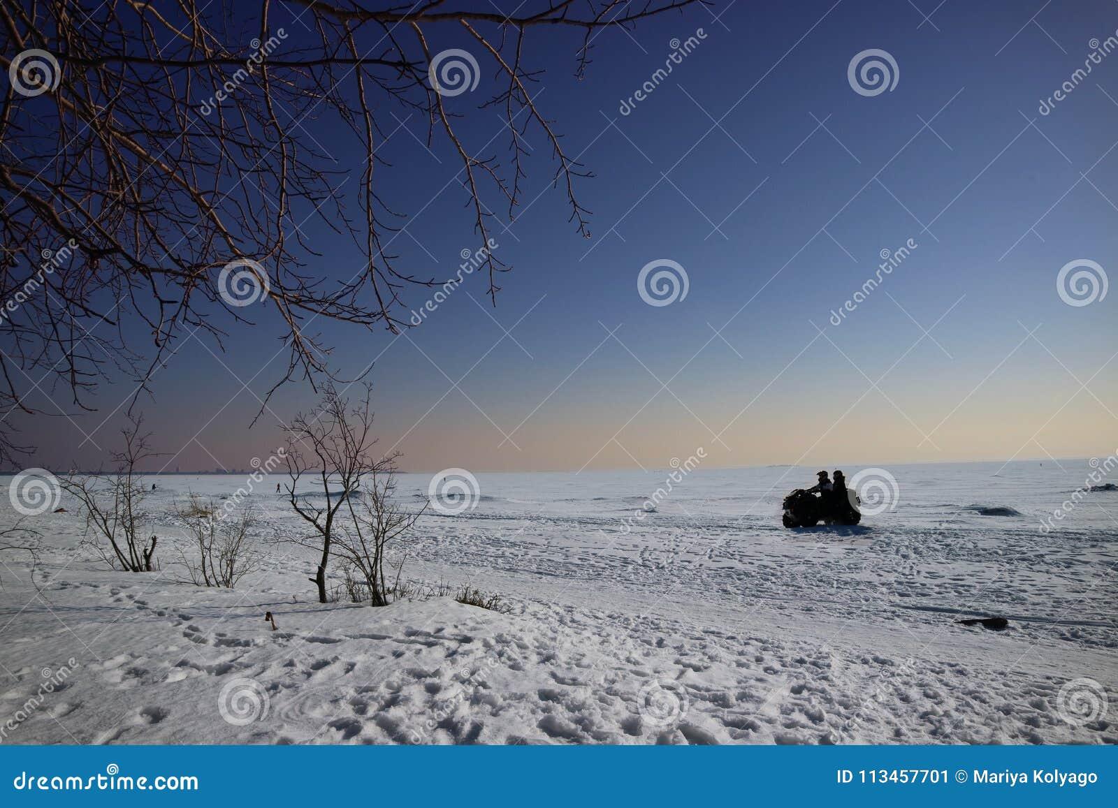 Winter trip on the ATV