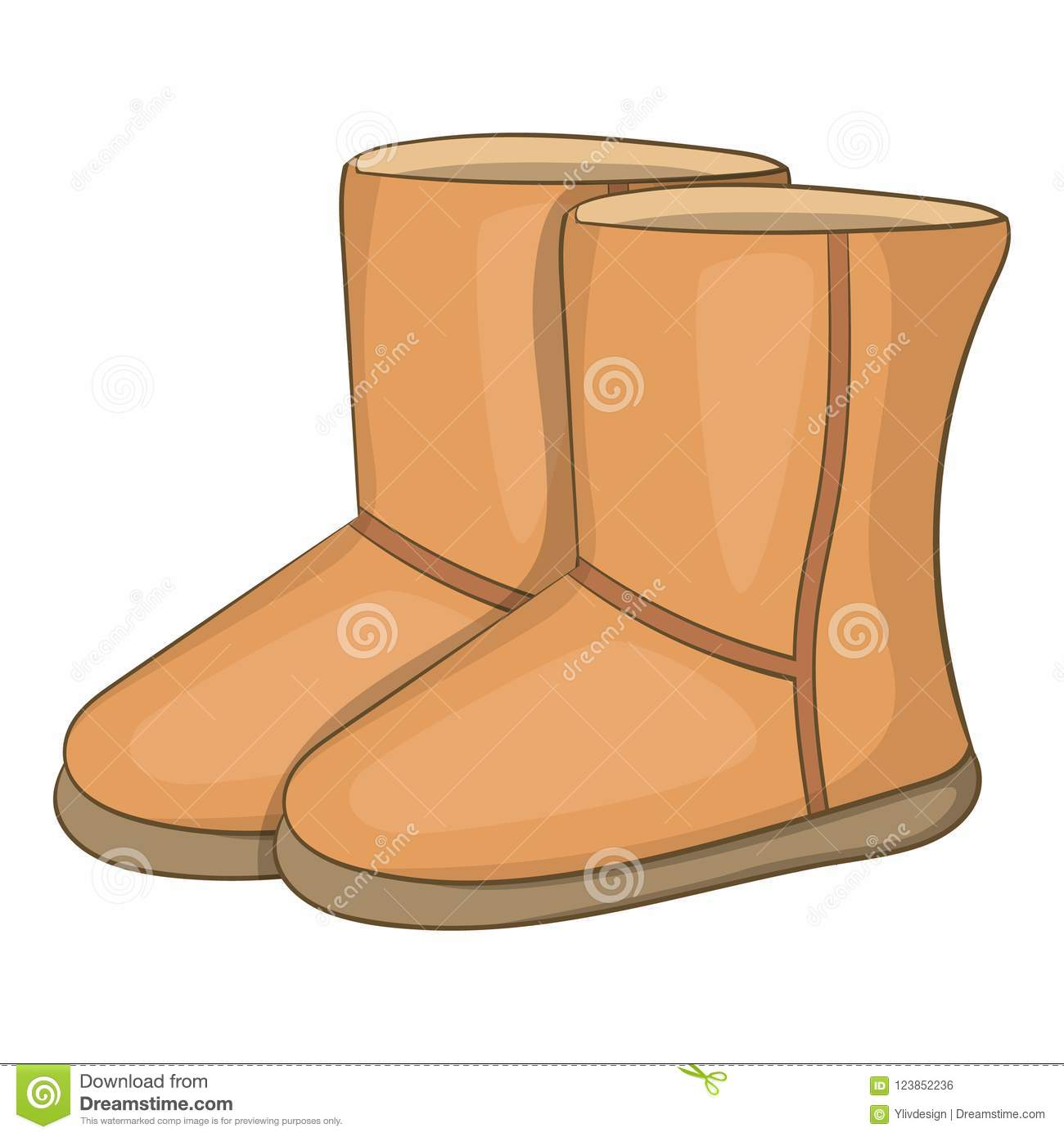 be9998d8e28 Winter Ugg Boots Icon, Cartoon Style Stock Illustration ...
