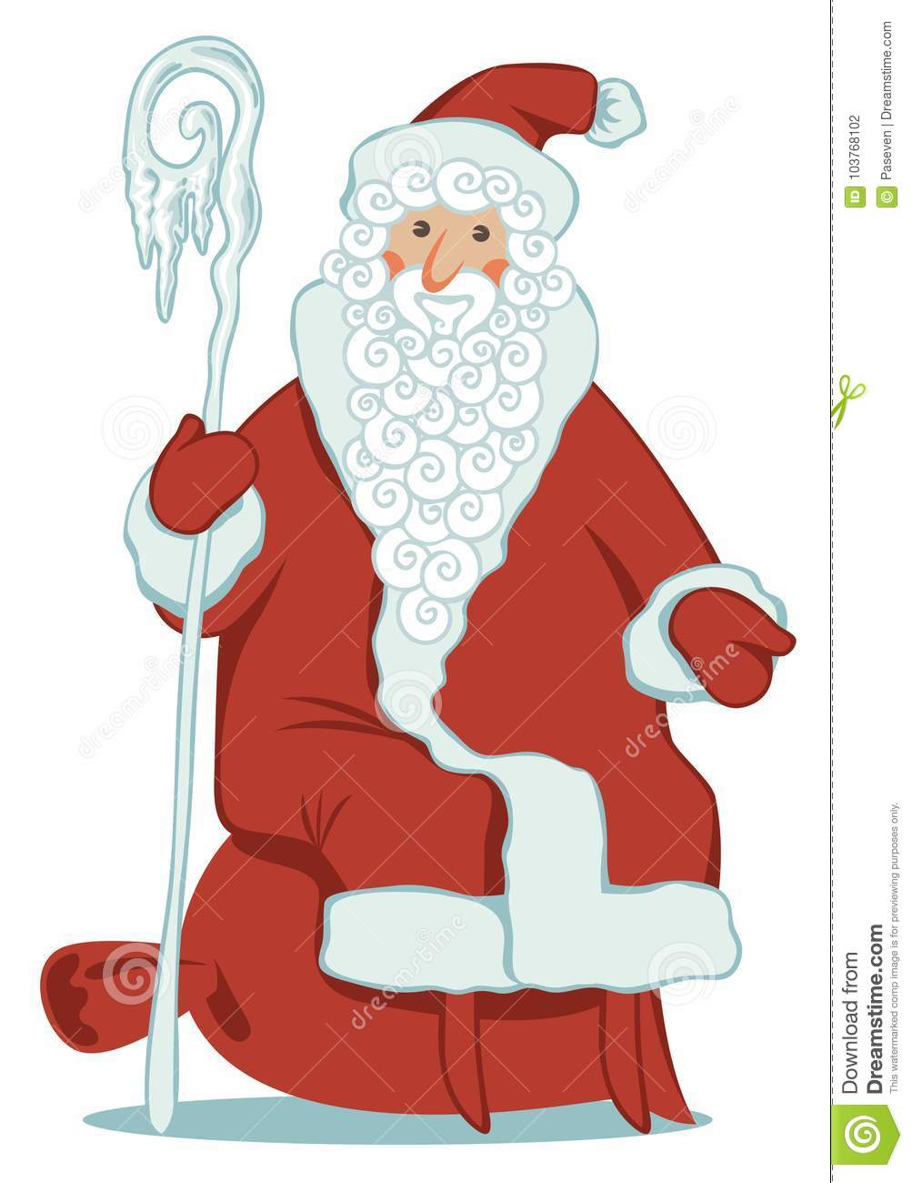 Cartoon santa claus with magic staff and gift bag stock vector download cartoon santa claus with magic staff and gift bag stock vector illustration of card m4hsunfo