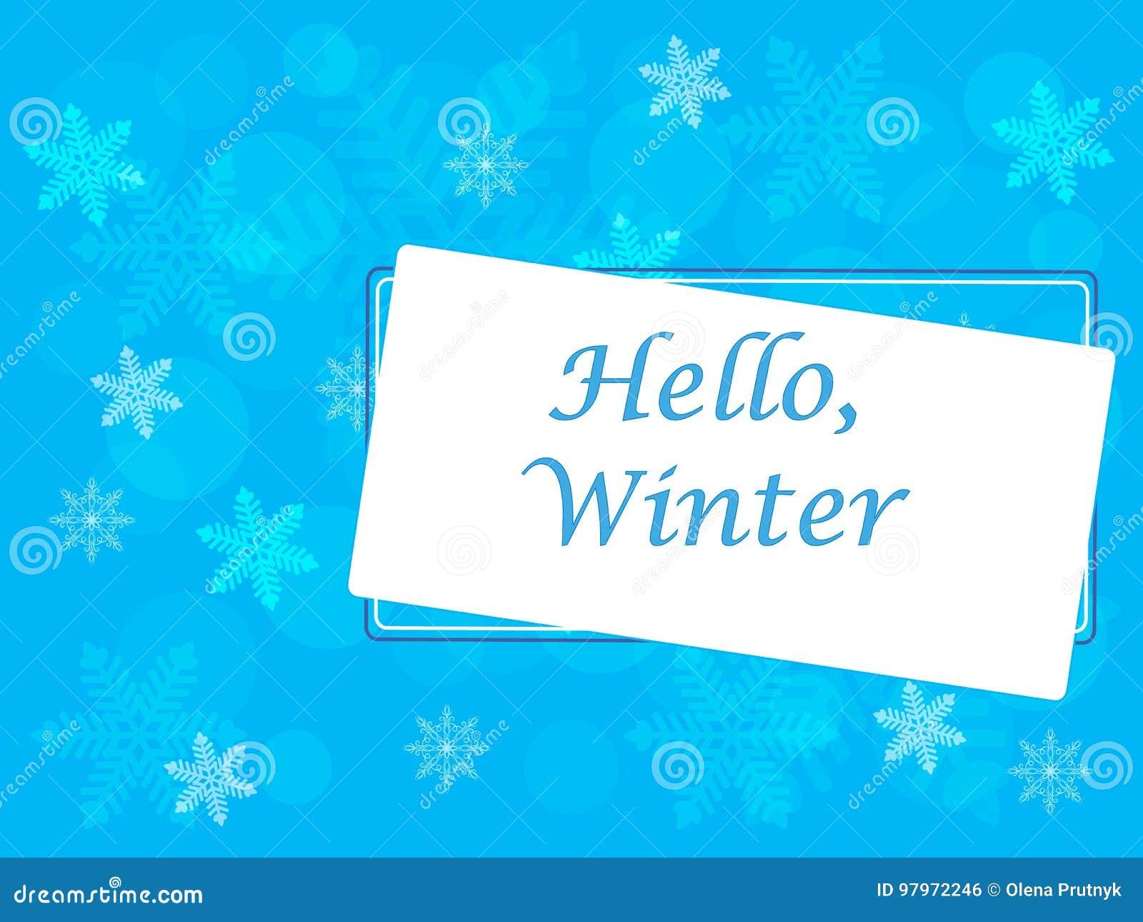 Winter vector picture