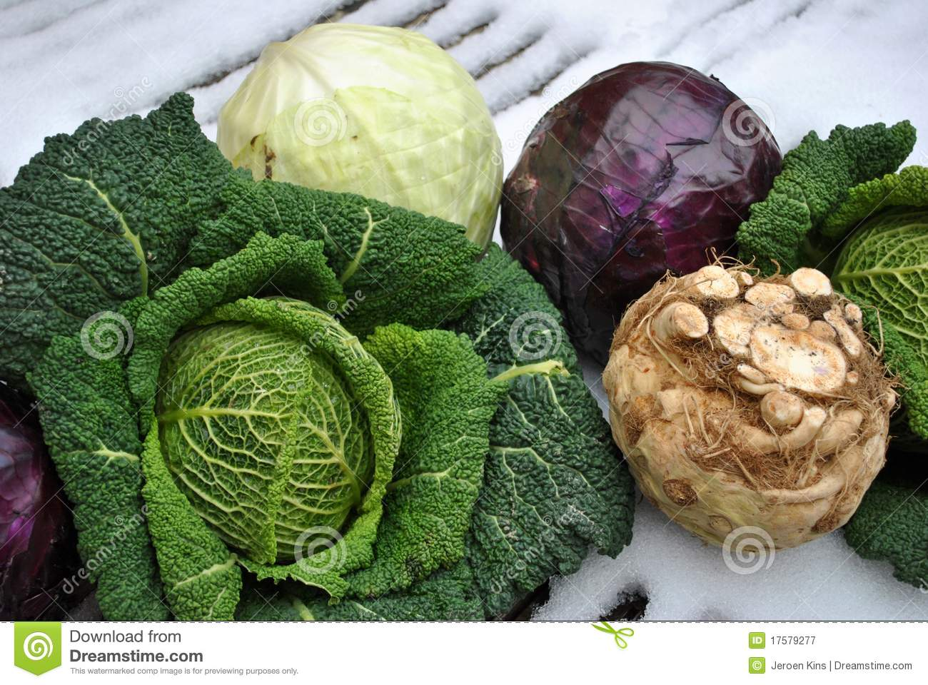 Winter Vegetables On Snow Royalty Free Stock Photography