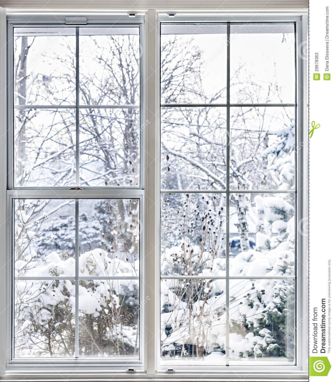 Winter View Through Window Stock Image Image Of Insulated