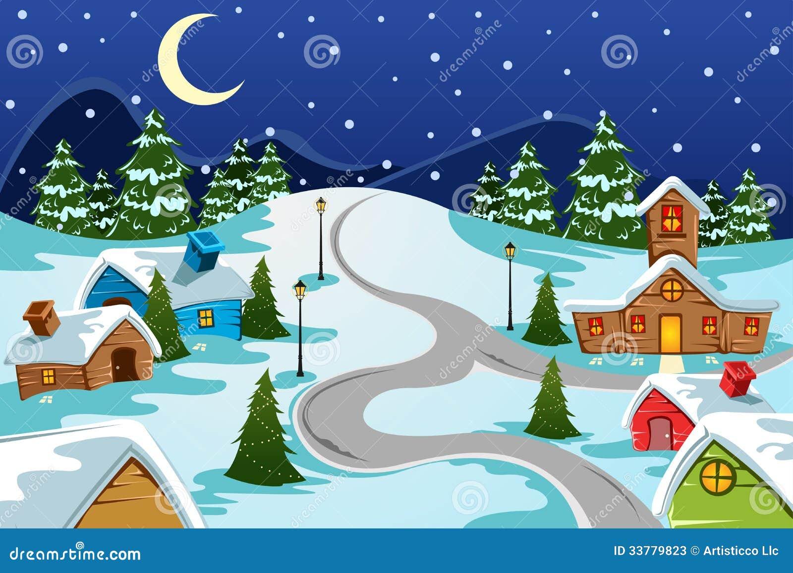free christmas village clipart - photo #30