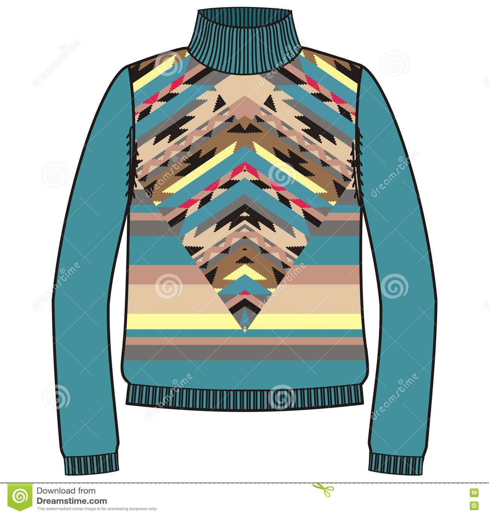 976d3722a576f3 Winter Warm Tribal Jumper For Knit Handmade Native American Navajo ...