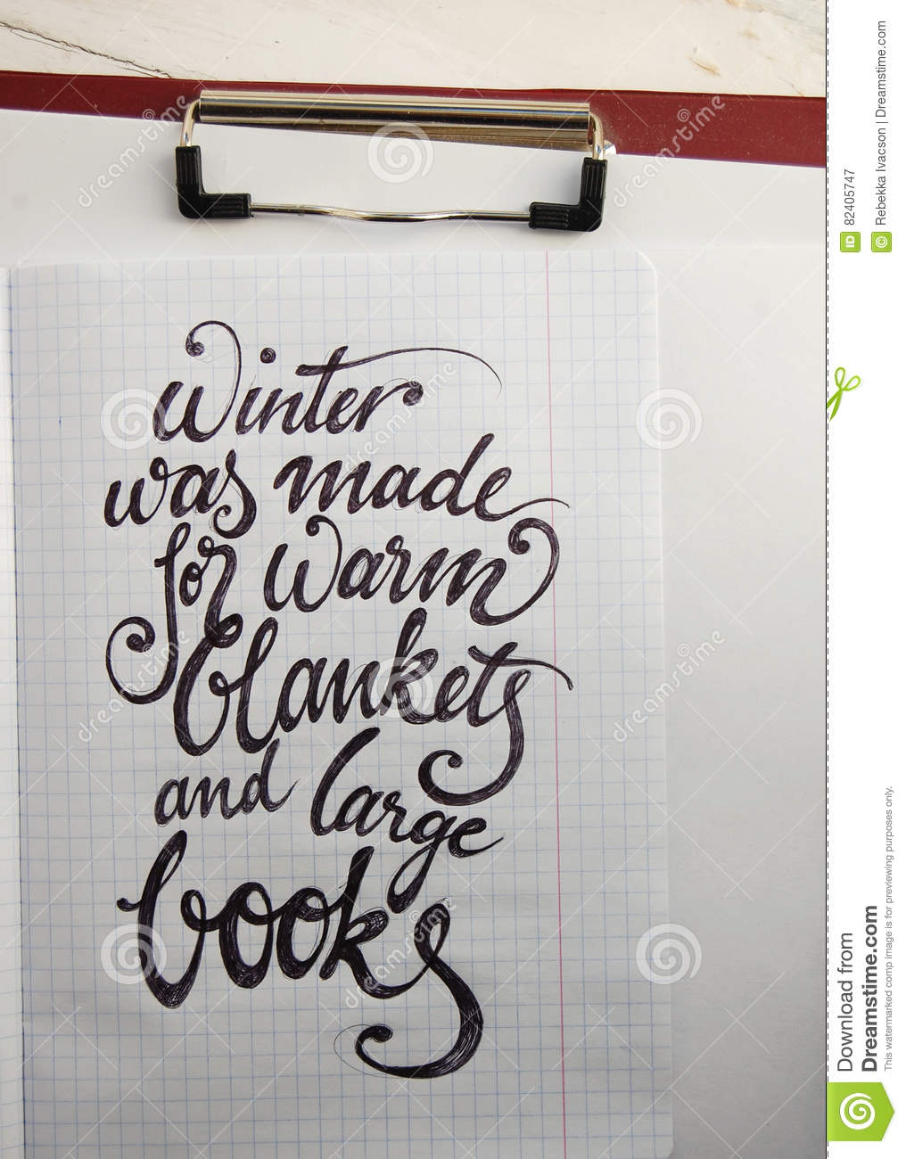 Winter Was Made For Warm Blankets Calligraphic Background
