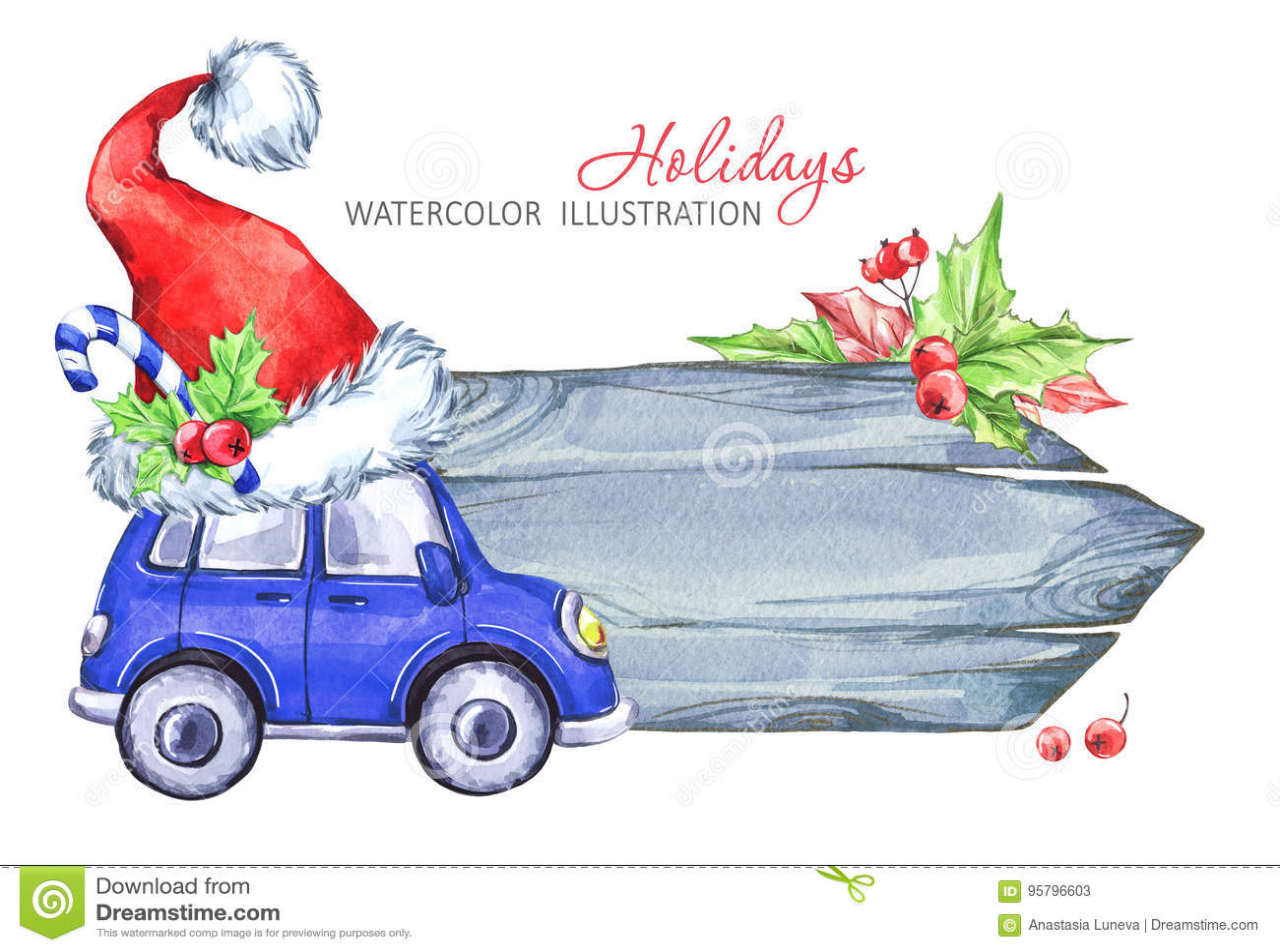 1004959b0d7f3 Winter Watercolor Greeting Card