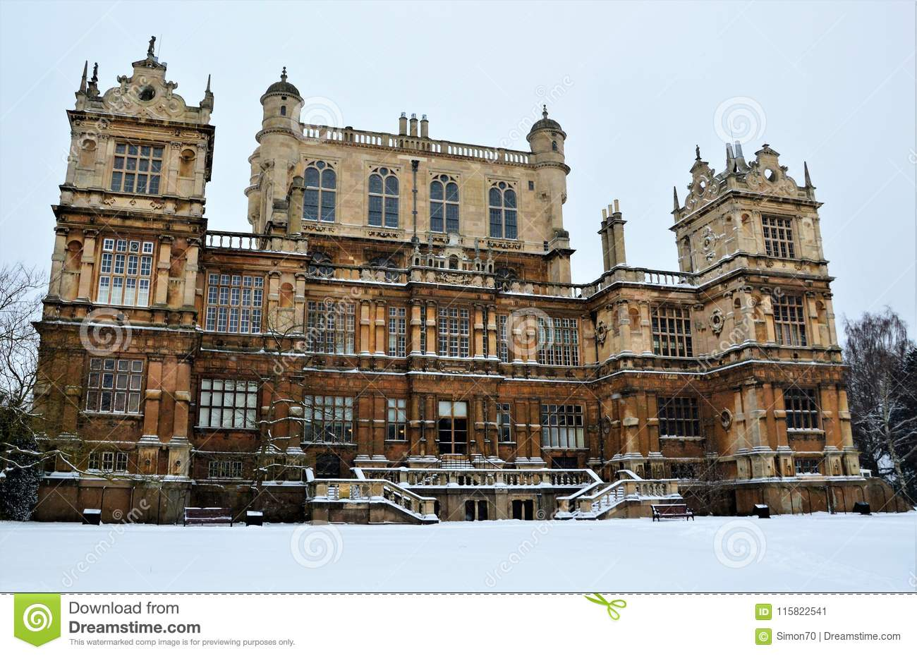 Winter wollaton hall