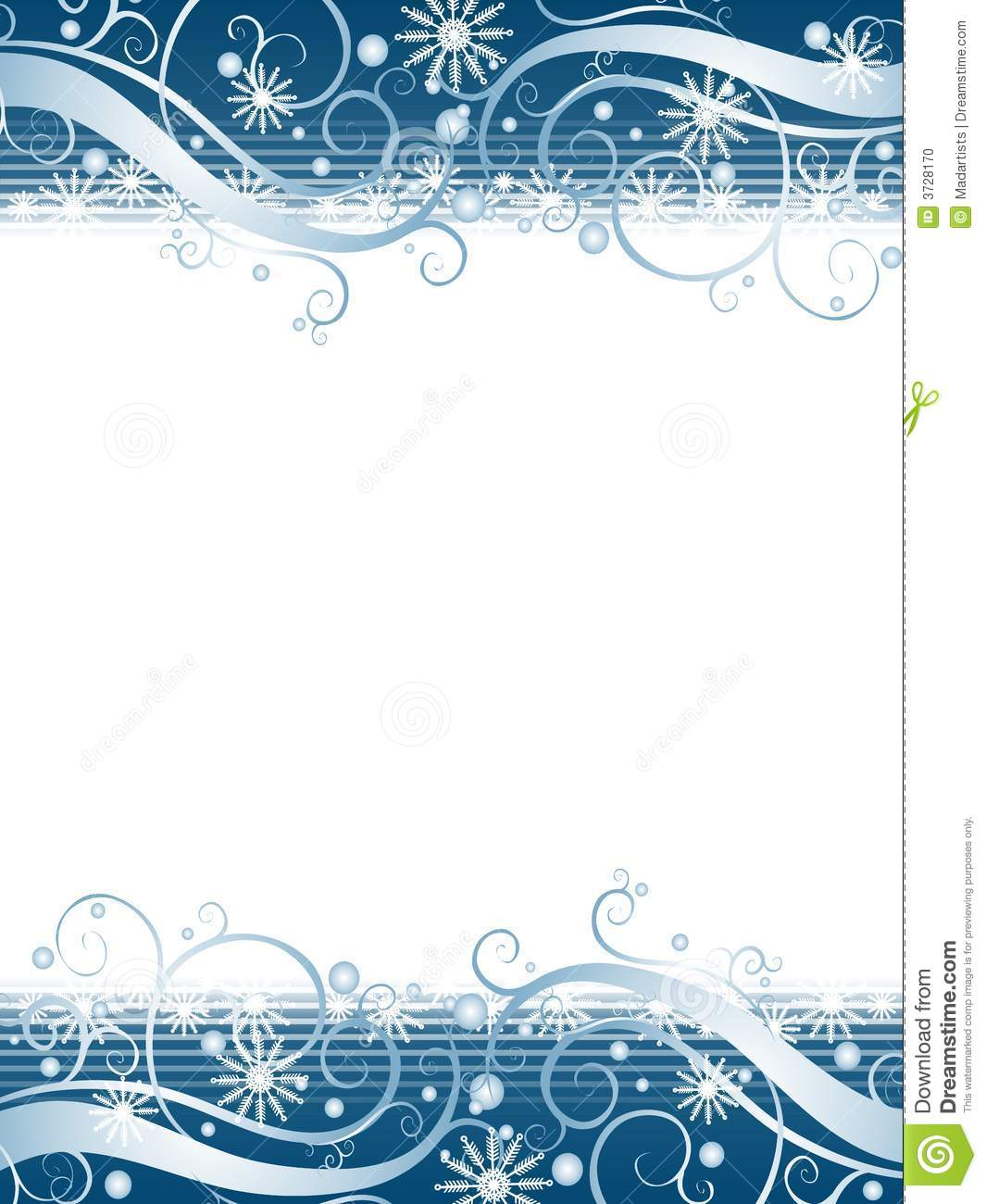 winter page borders free download