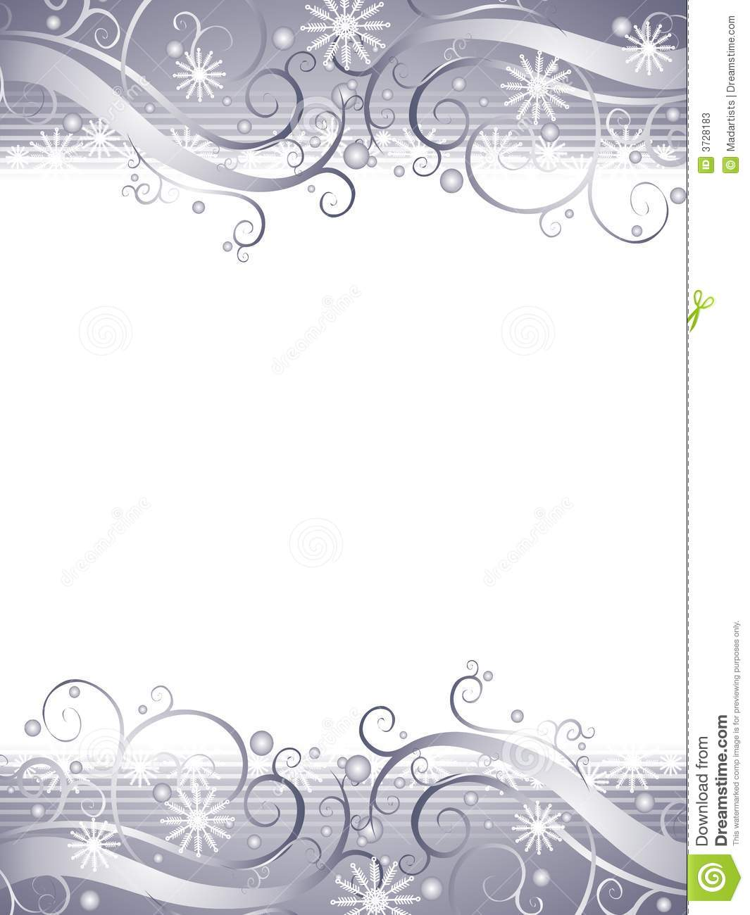... of decorative wispy swirls and snowflakes with silver gradient colors