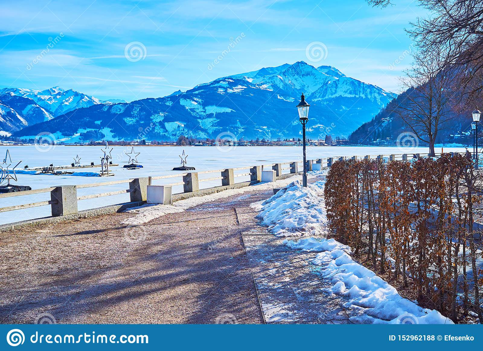 Winter in Zell am See, Austria
