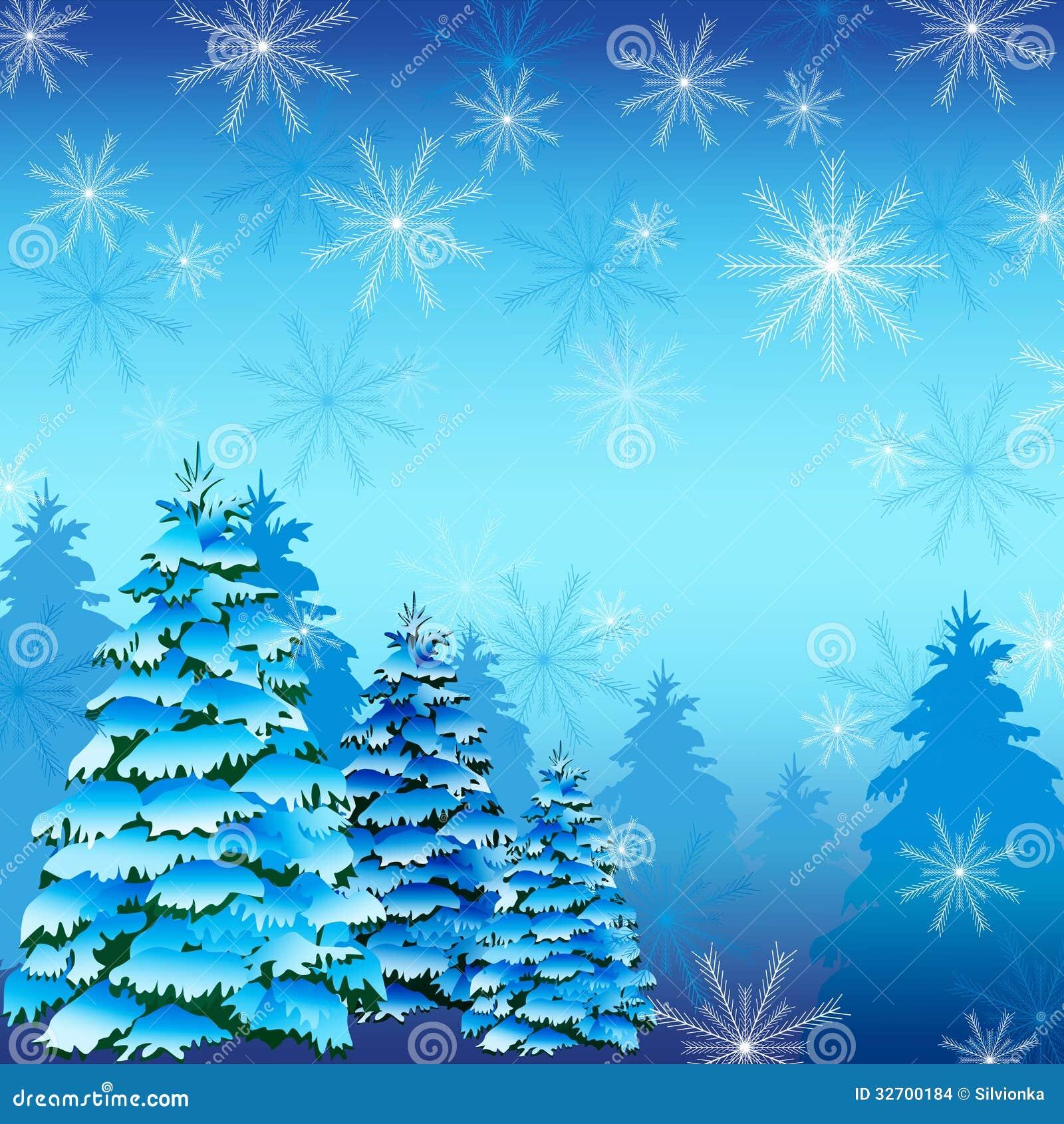 winterhintergrund mit tannenbaum und schneeflocken vektor abbildung illustration von festlich. Black Bedroom Furniture Sets. Home Design Ideas