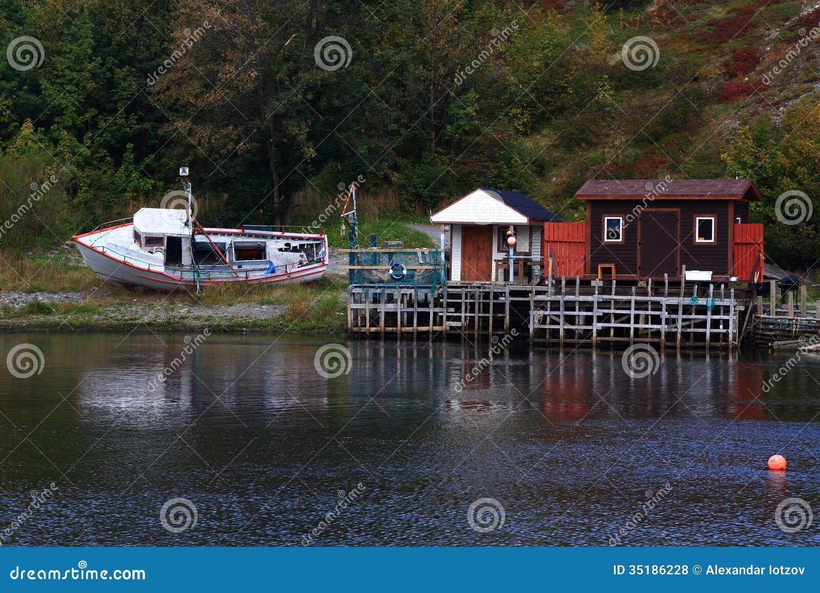 Winterized fishing dock and cabins in quidi vidi harbor for Cabins in newfoundland