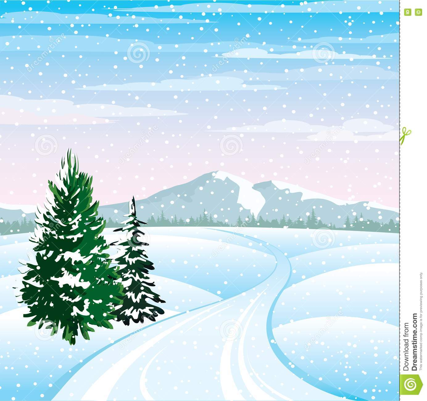 Winterlandschaft stock abbildung illustration von - Winterlandschaft dekoration ...