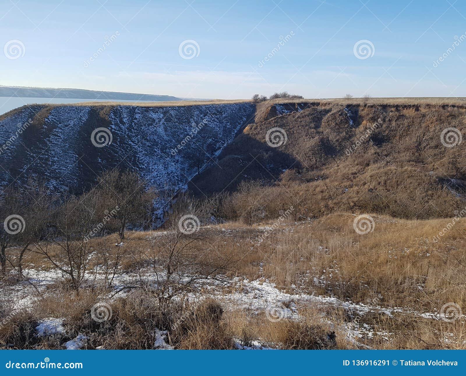 Winterlandschaft nahe der Mündung