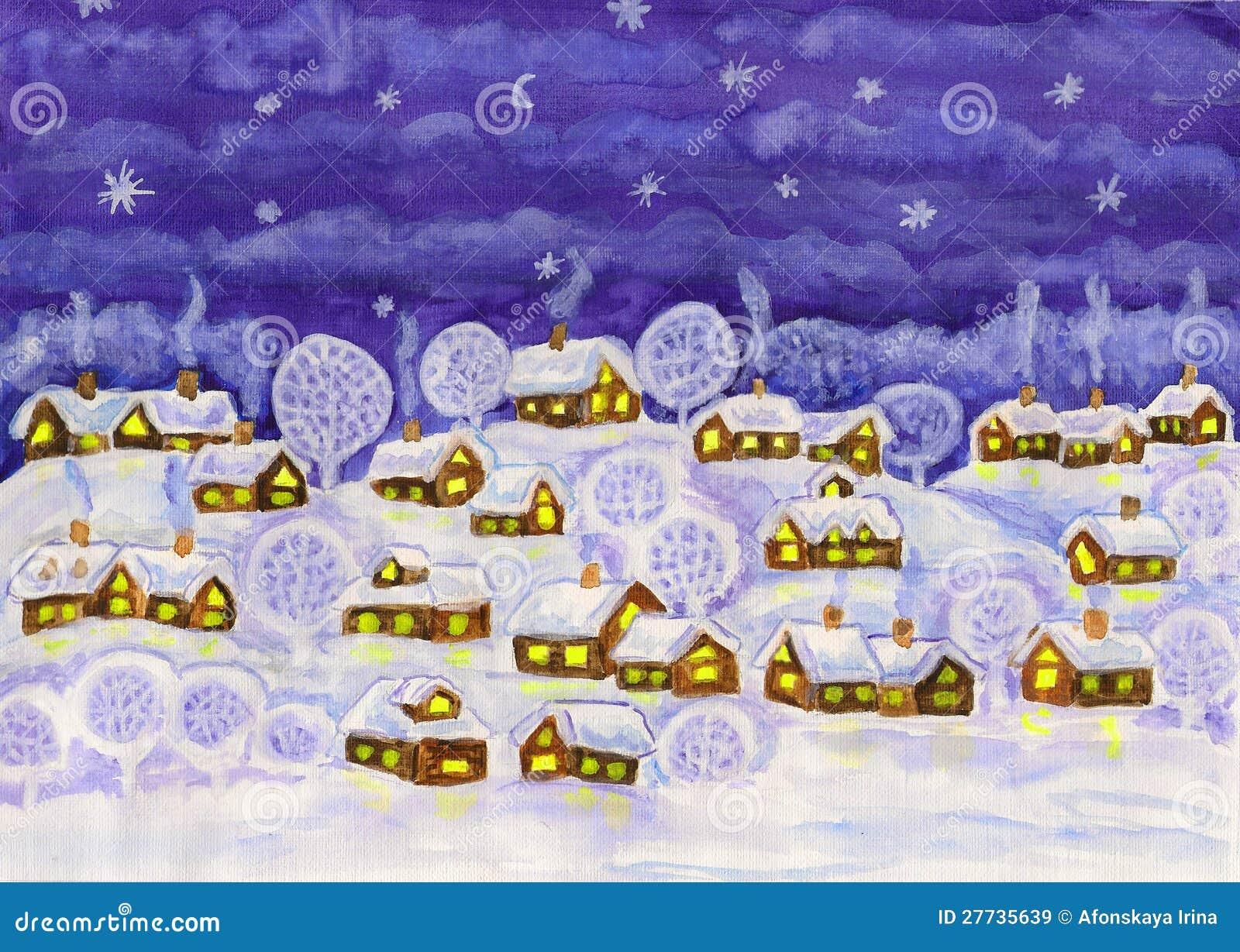 Winternacht, malend