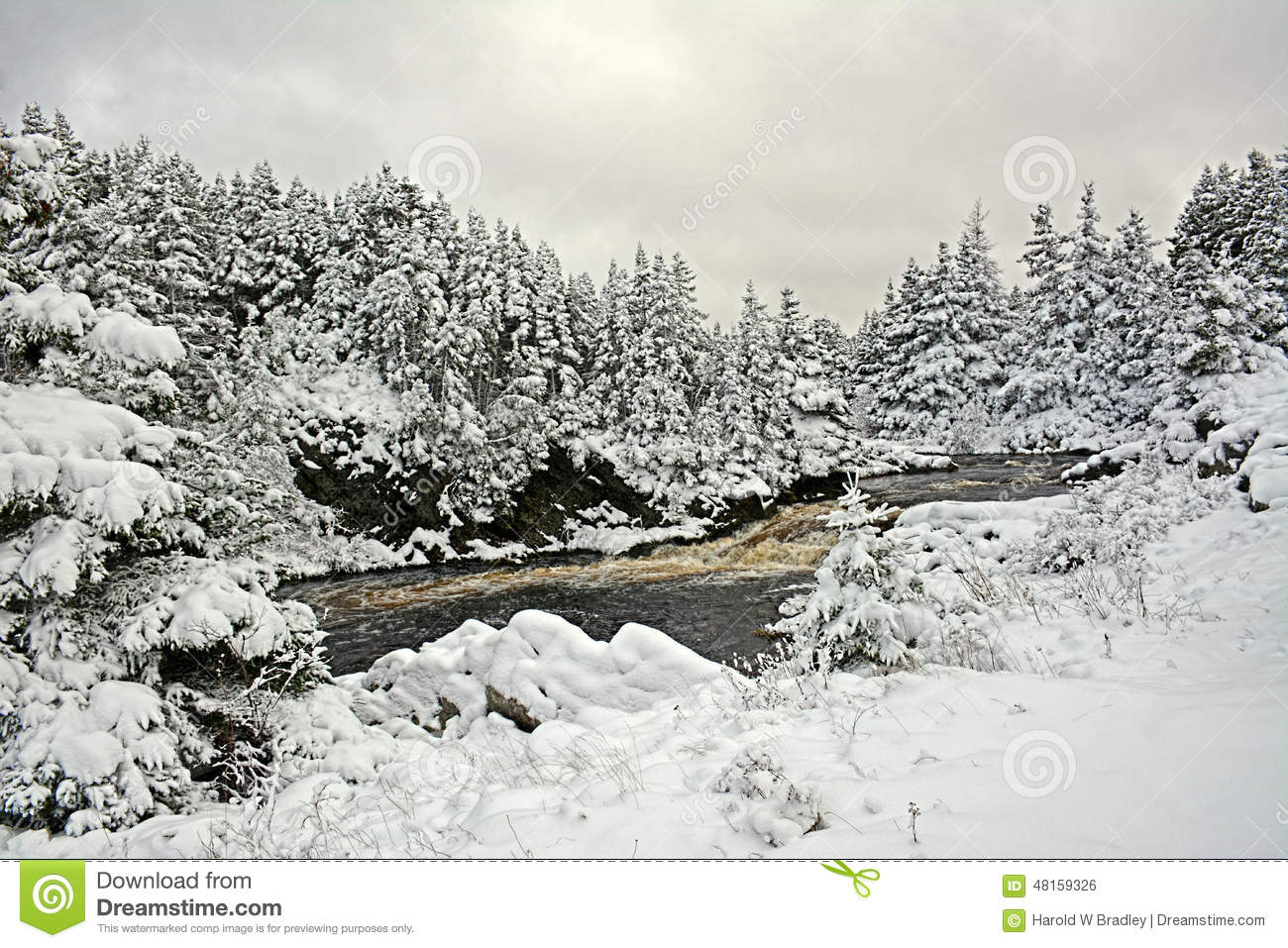 Winters landscape in canada stock photo image 48159326 for Landscaping rocks canada