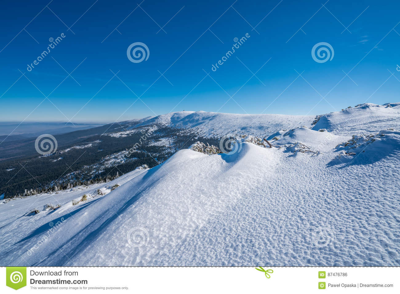 Winterscape гор Karkonosze