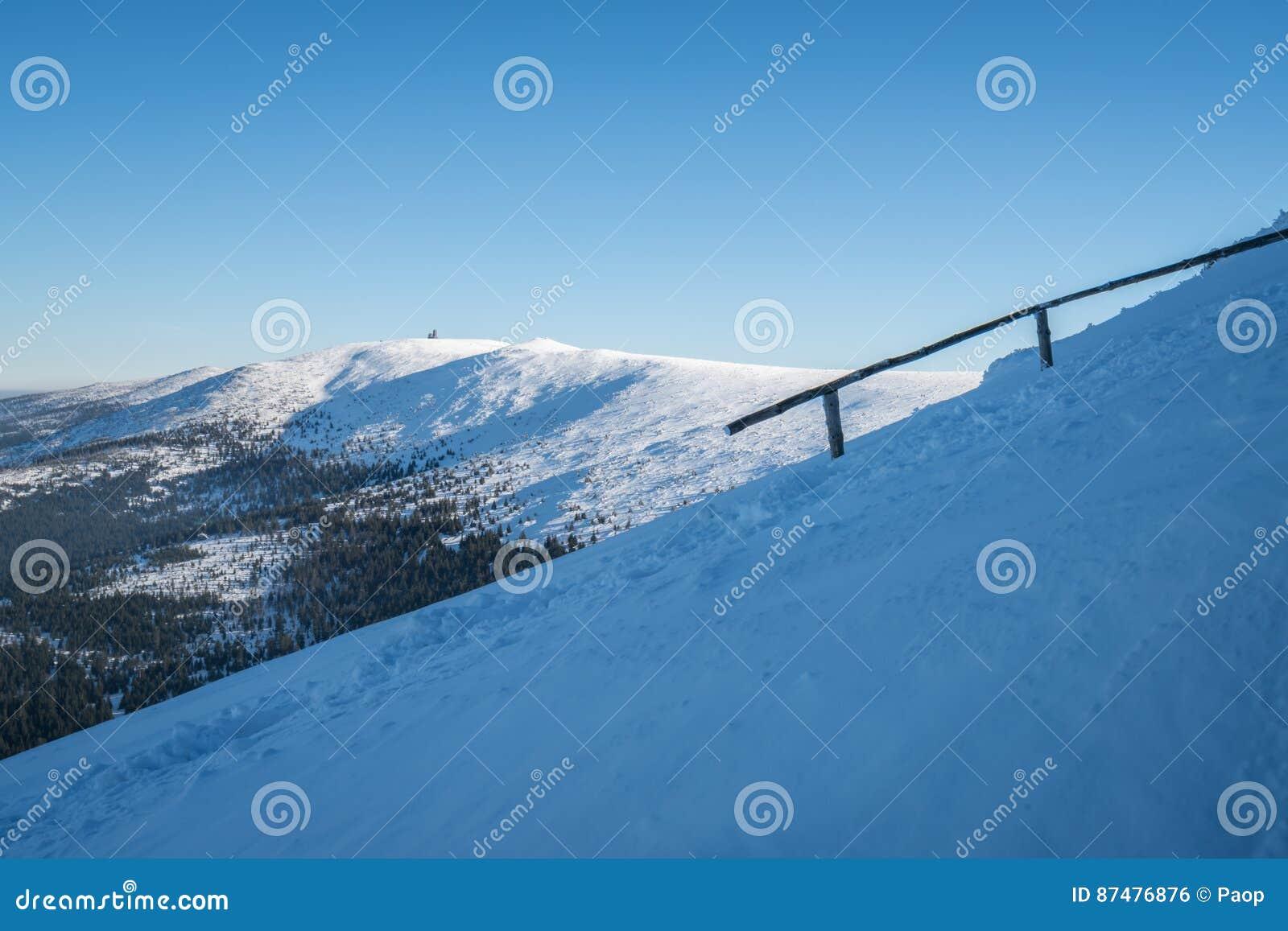 Winterscape гор Karkonosze